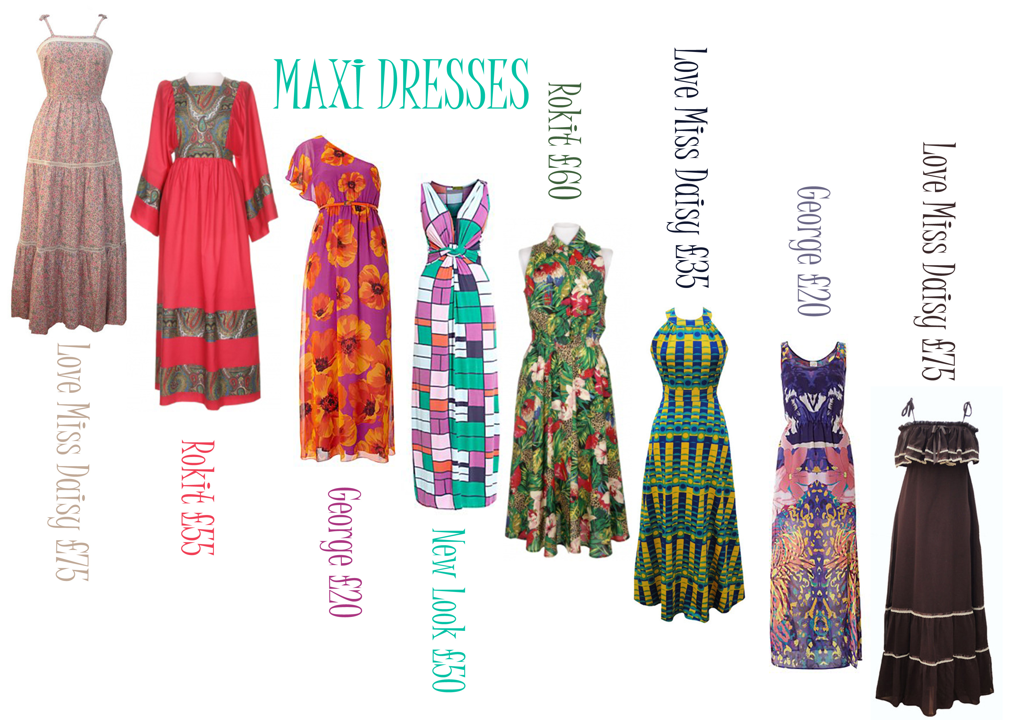 Maxi Dresses – Vintage and High Street