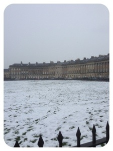 The Royal Crescent in the Snow