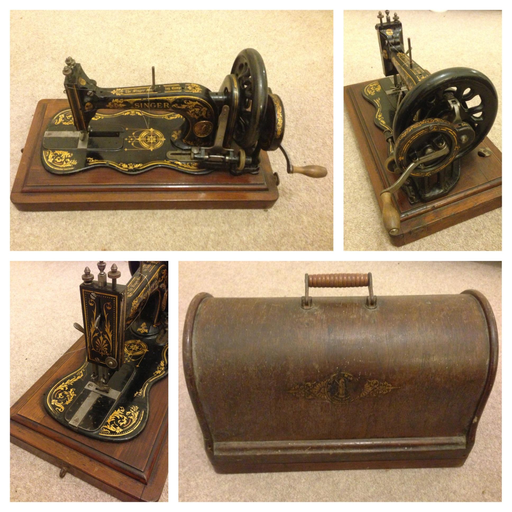 My 1890 Singer Sewing Machine