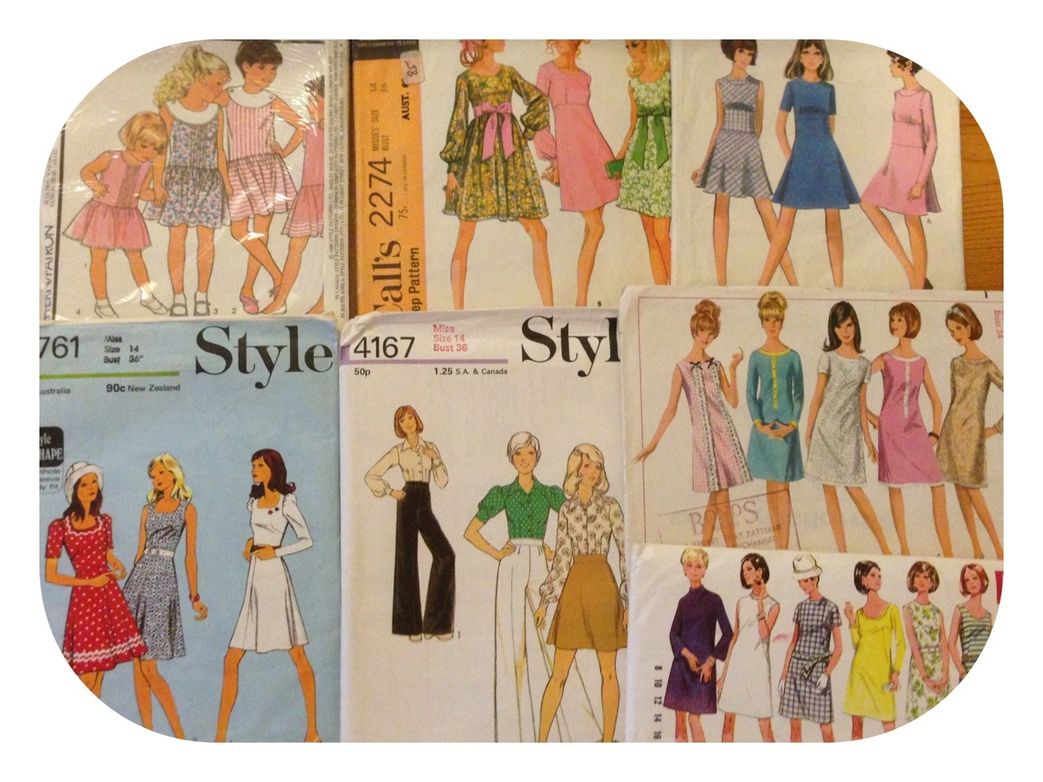 My New Vintage Sewing Patterns