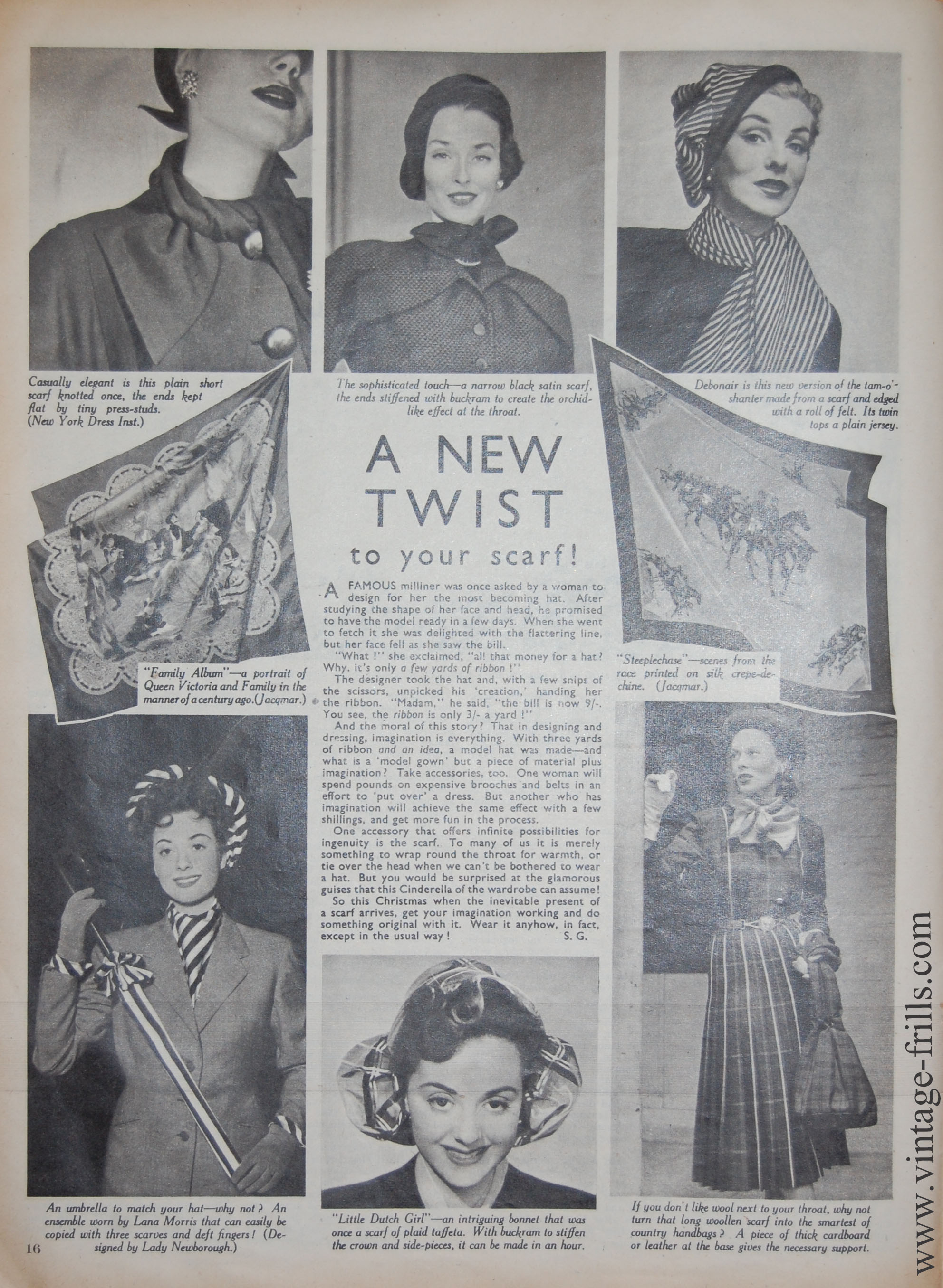 How to Wear Vintage Scarves.