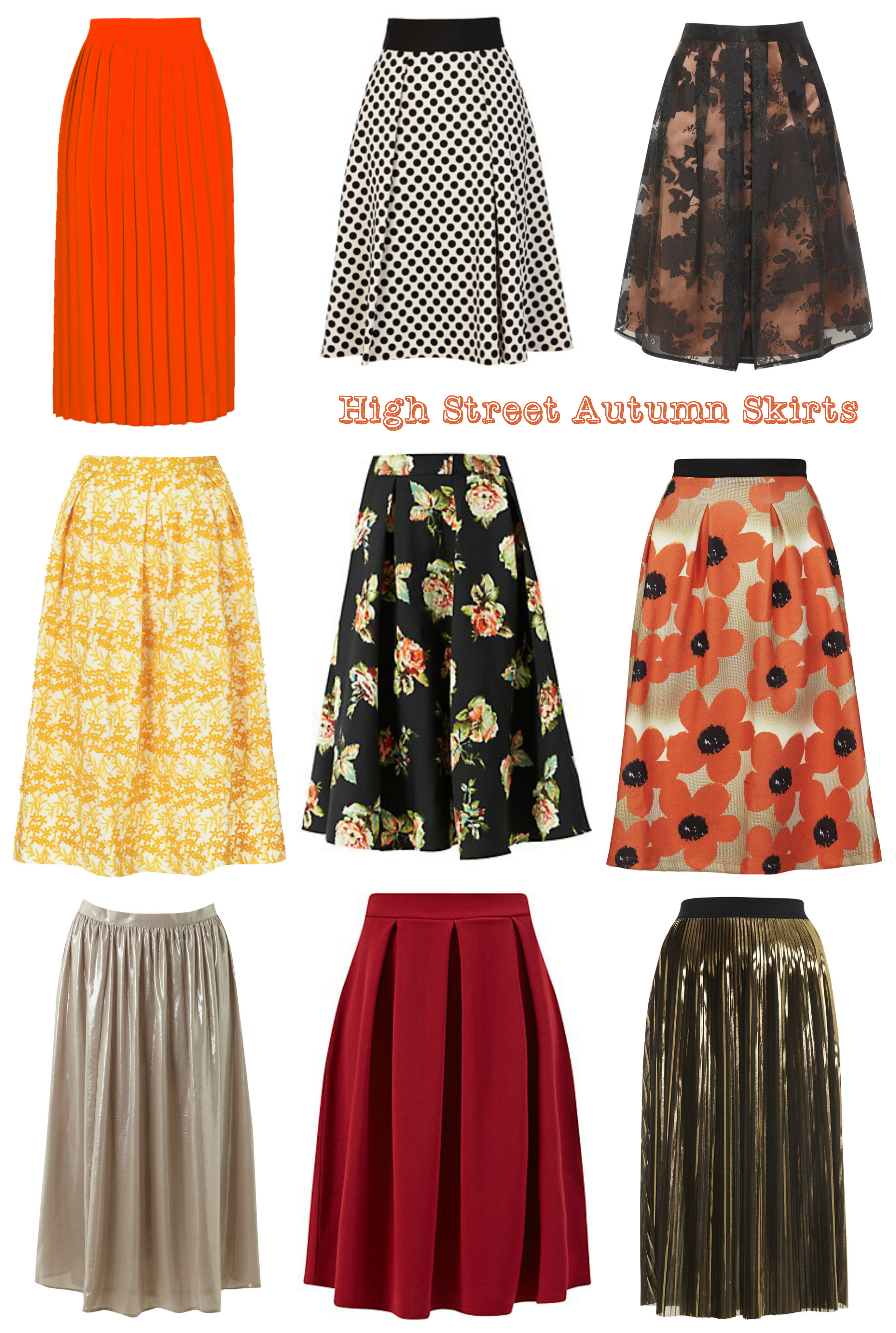 My Favourite High Street Autumn Skirts