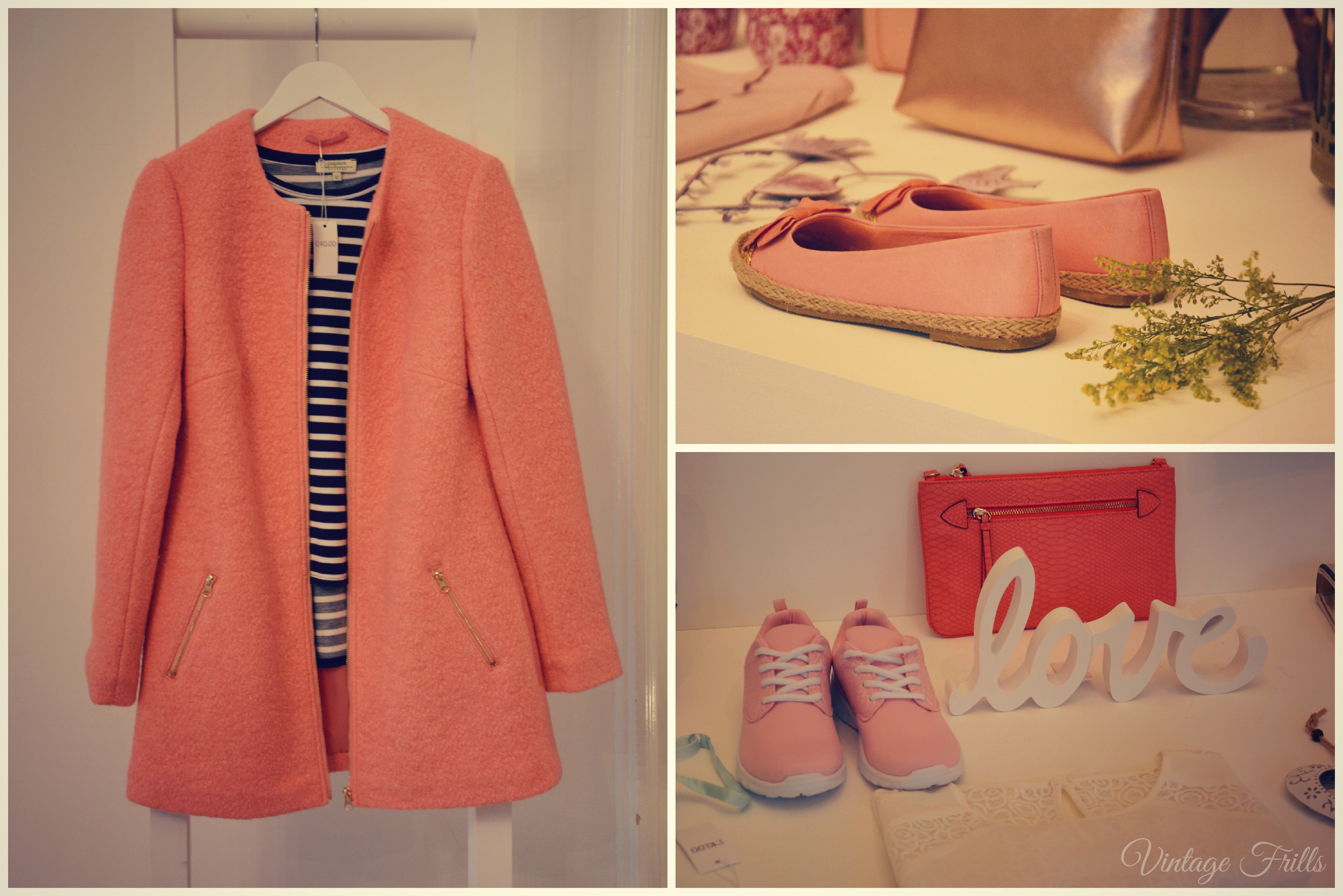 Matalan SS15 Press Day Coral Coat and Accessories