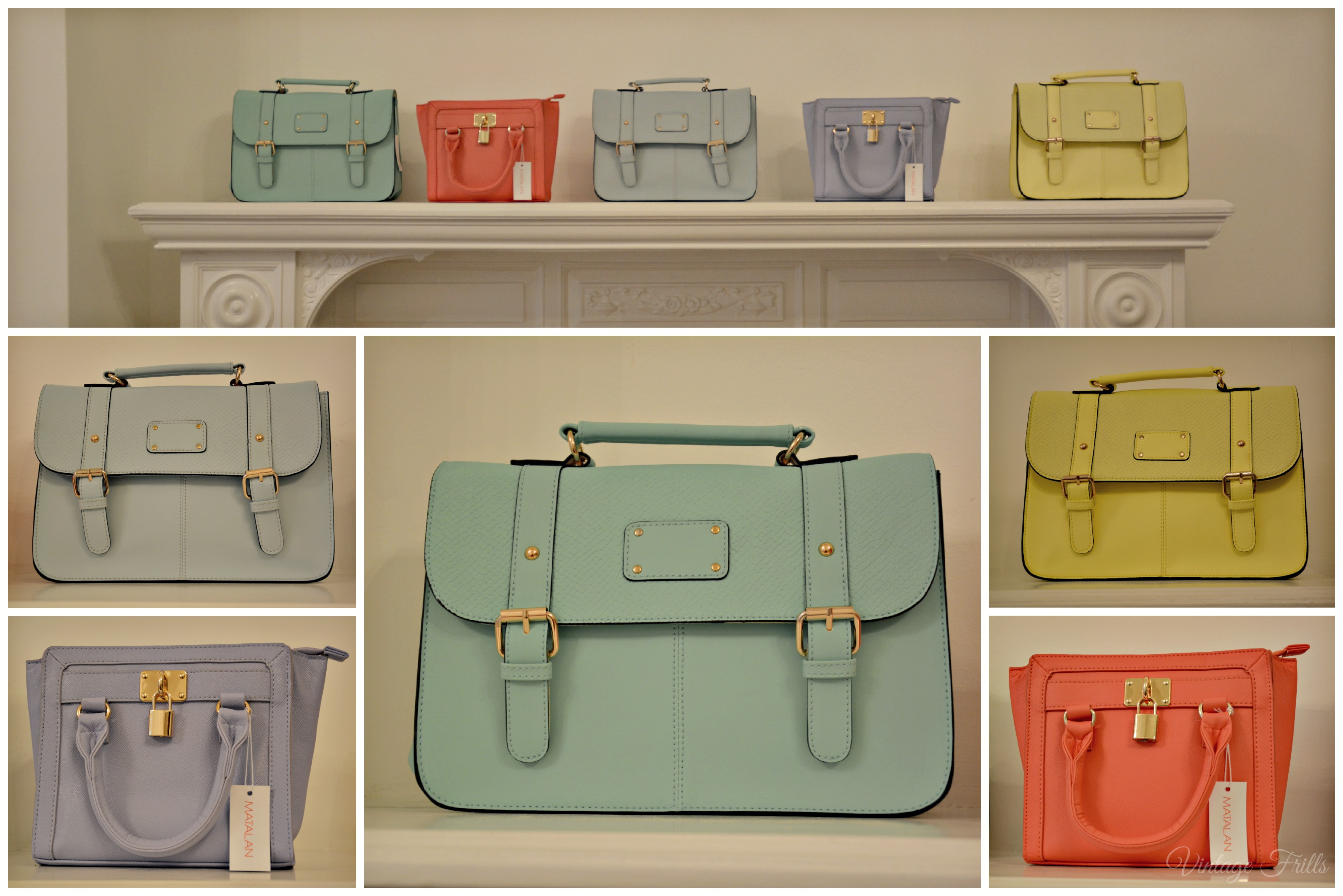 Matalan SS15 Press Day Pastel Satchels