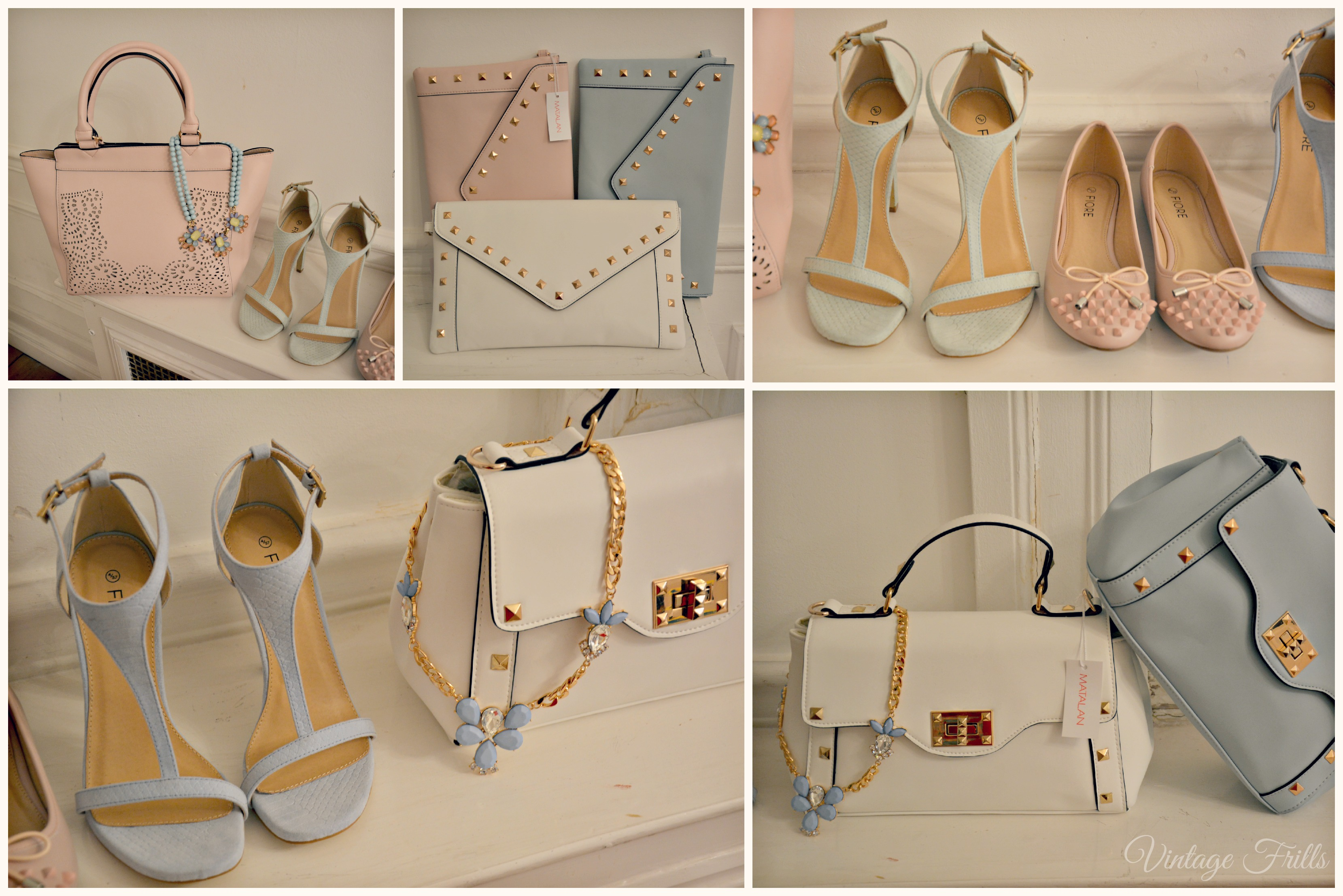 Matalan SS15 Press Day Pink and Blue Pastel Bags and Shoes