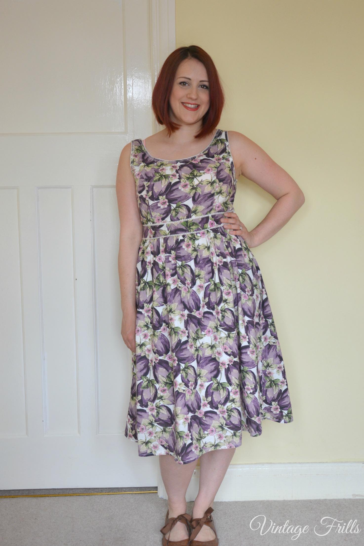 Sainsburys Plum Vintage Style Dress