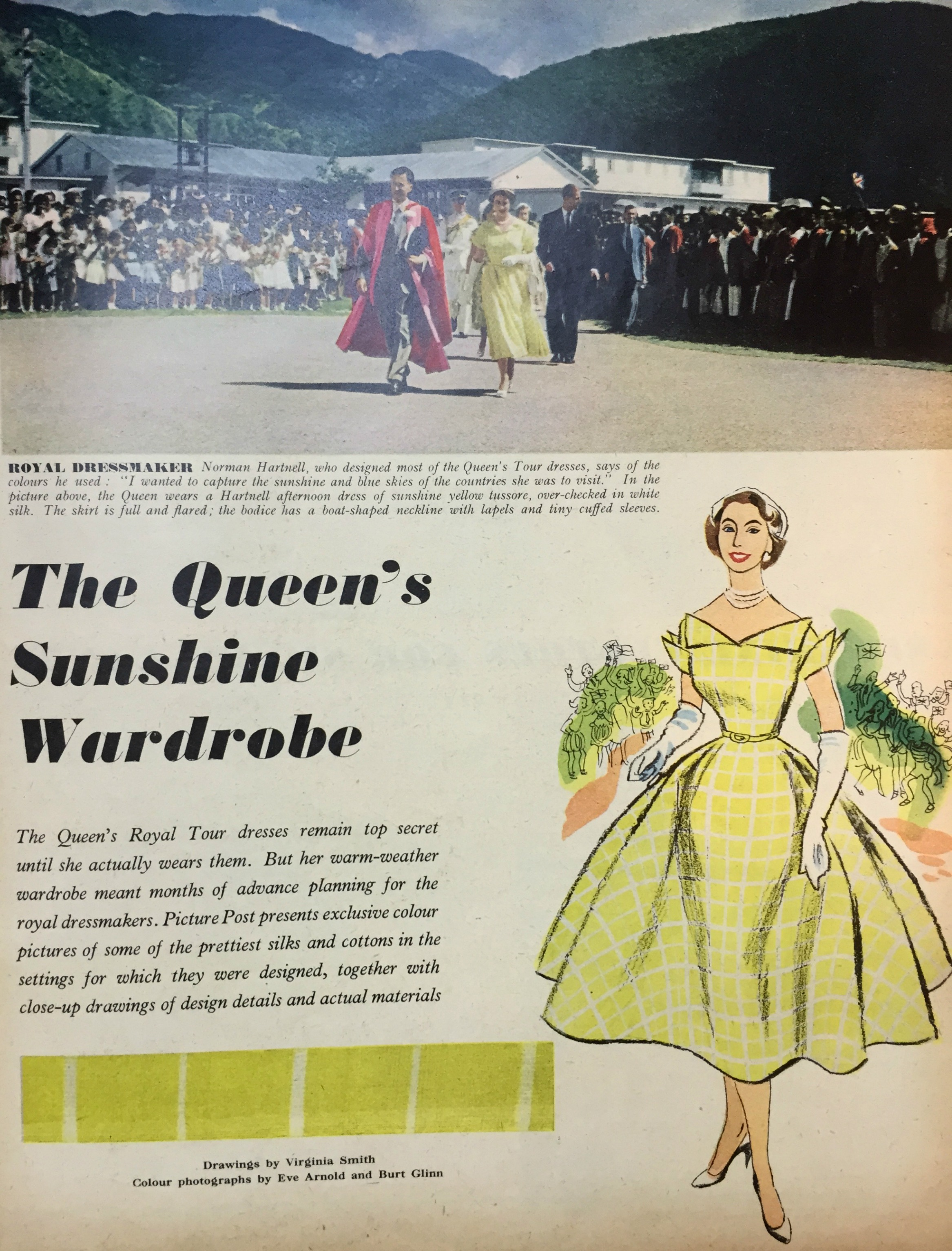 The Queens Sunshine Wardrobe 1954