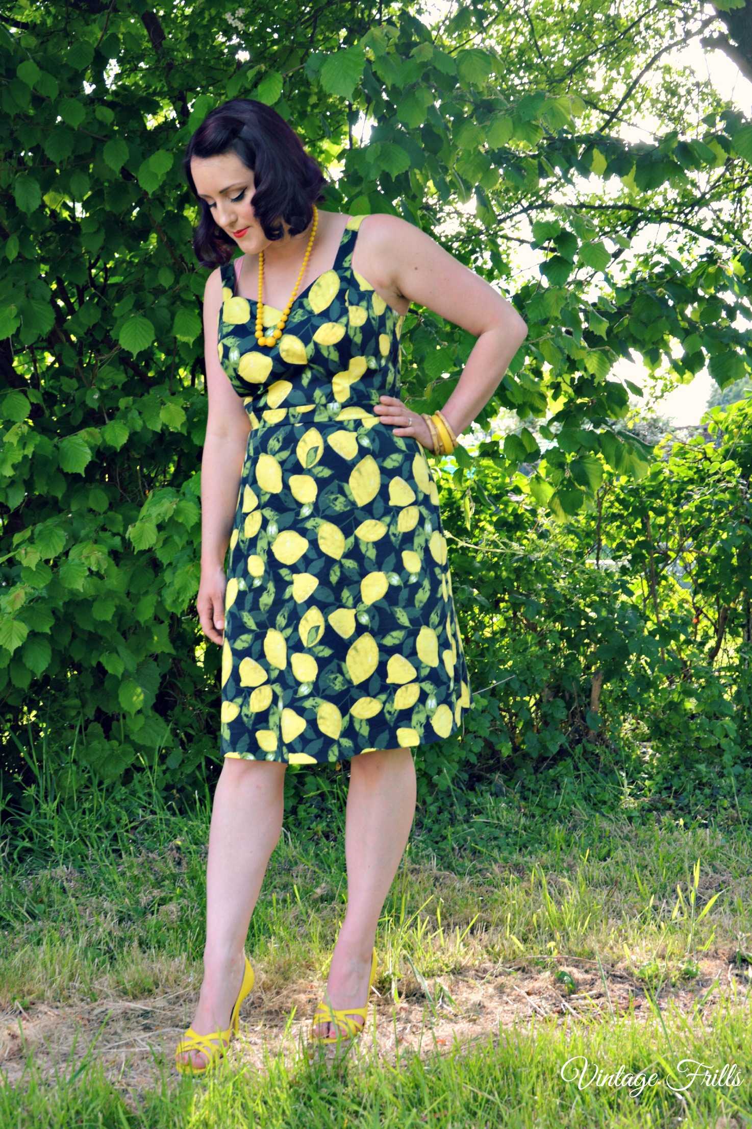 Asda Lemon Print Dress Review