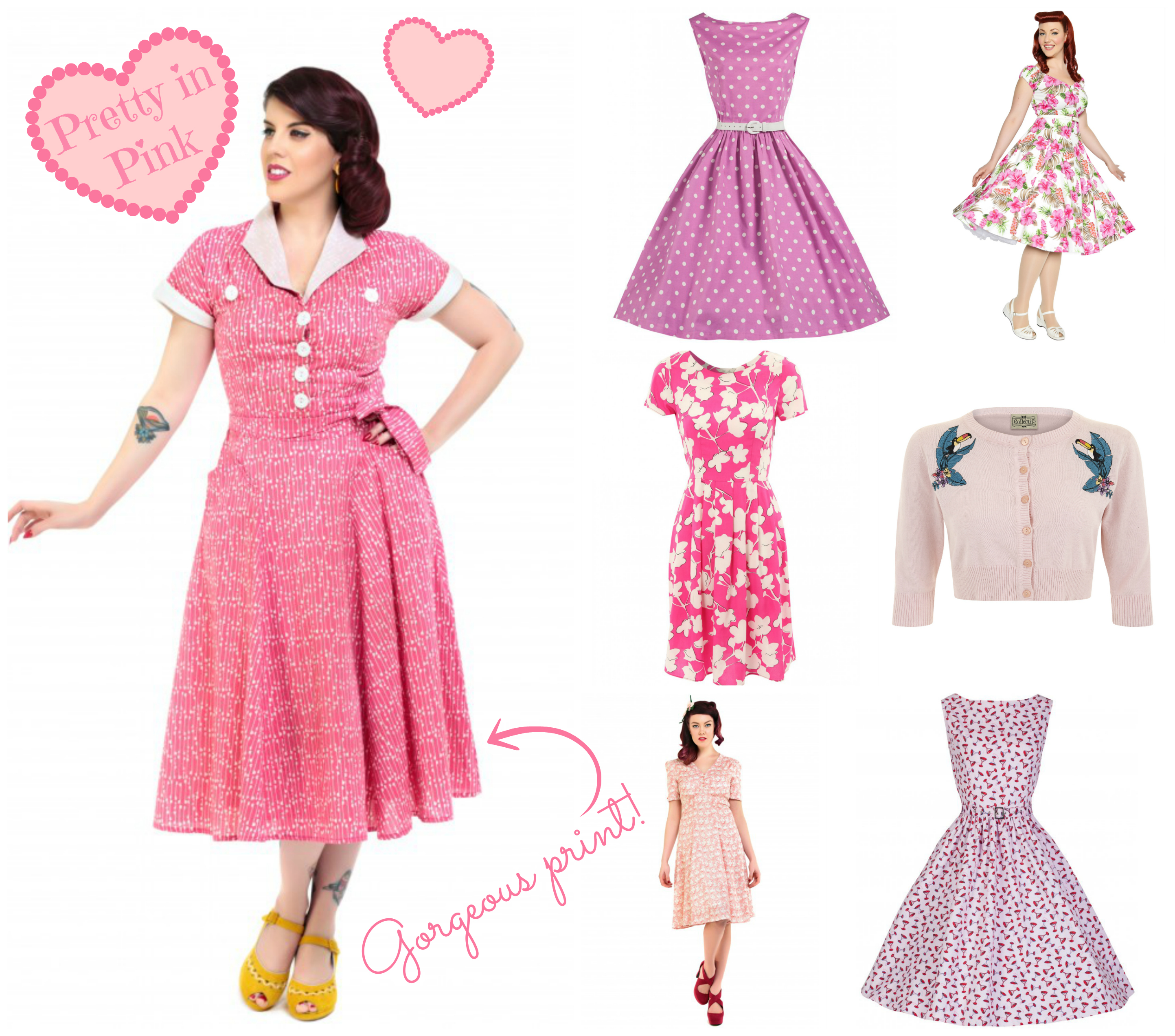Pretty In Pink Summer Dresses - Vintage Frills