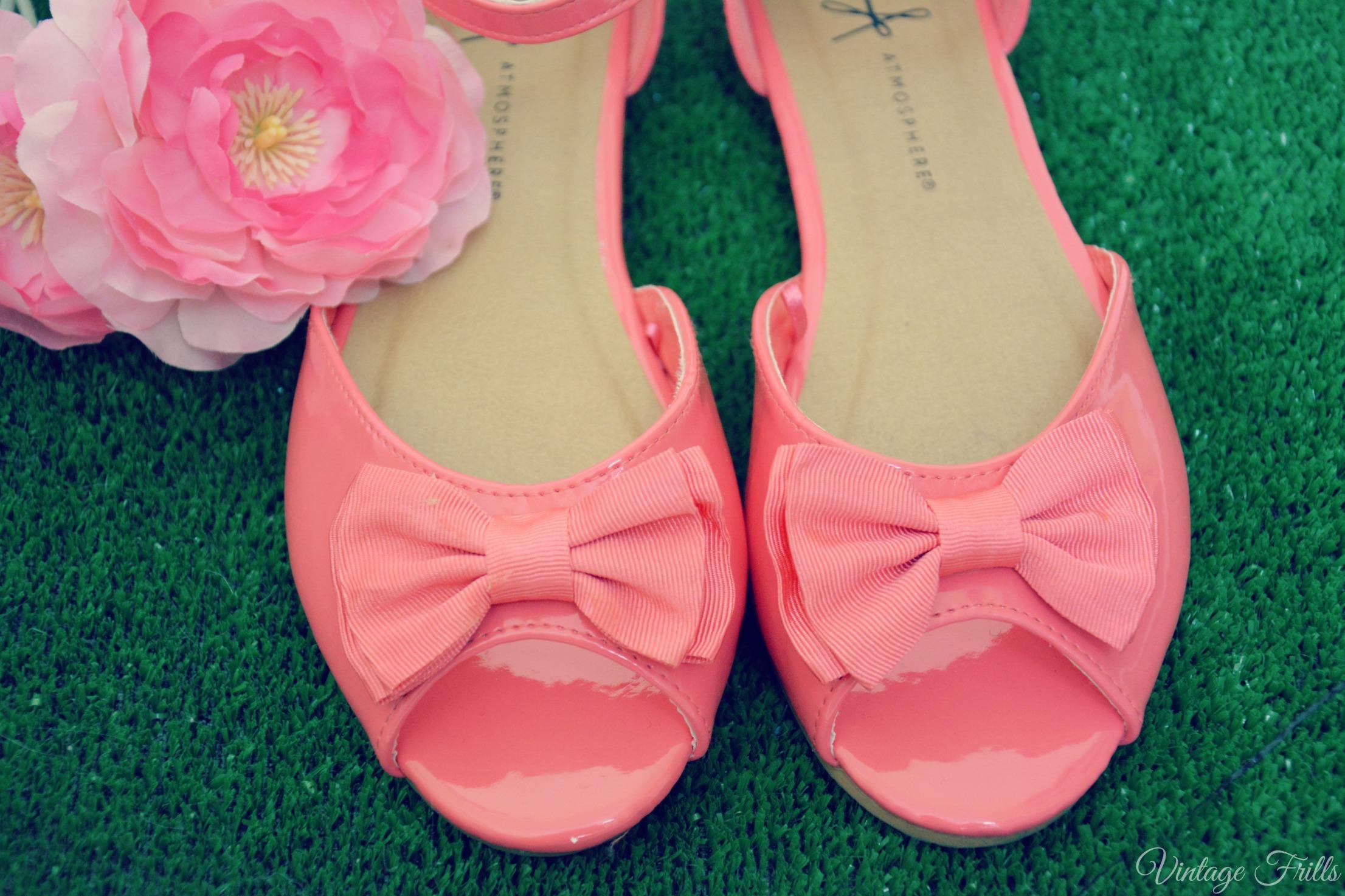Primark Pink Bow Sandles