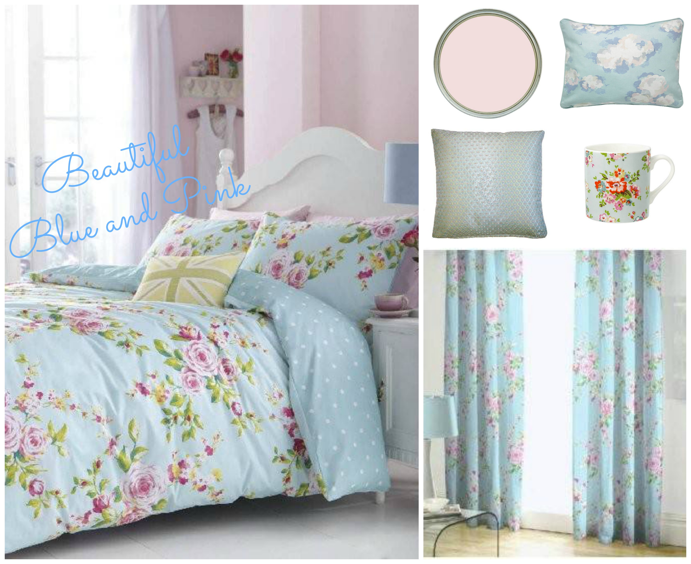 3 fabulous home looks wish list vintage frills for Pink and blue bedroom