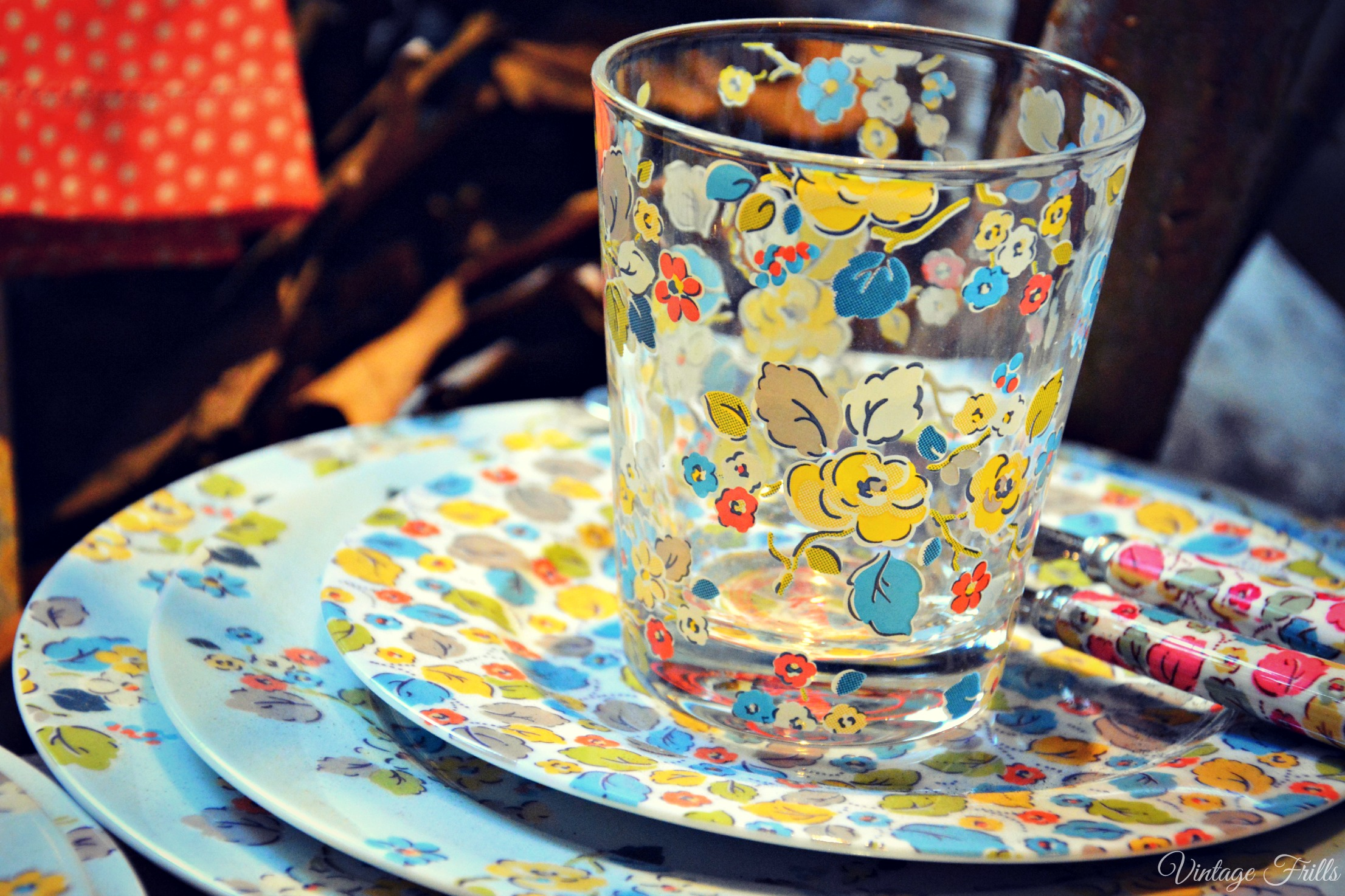 Cath Kidston AW15 Press Day - Floral Printed Glass
