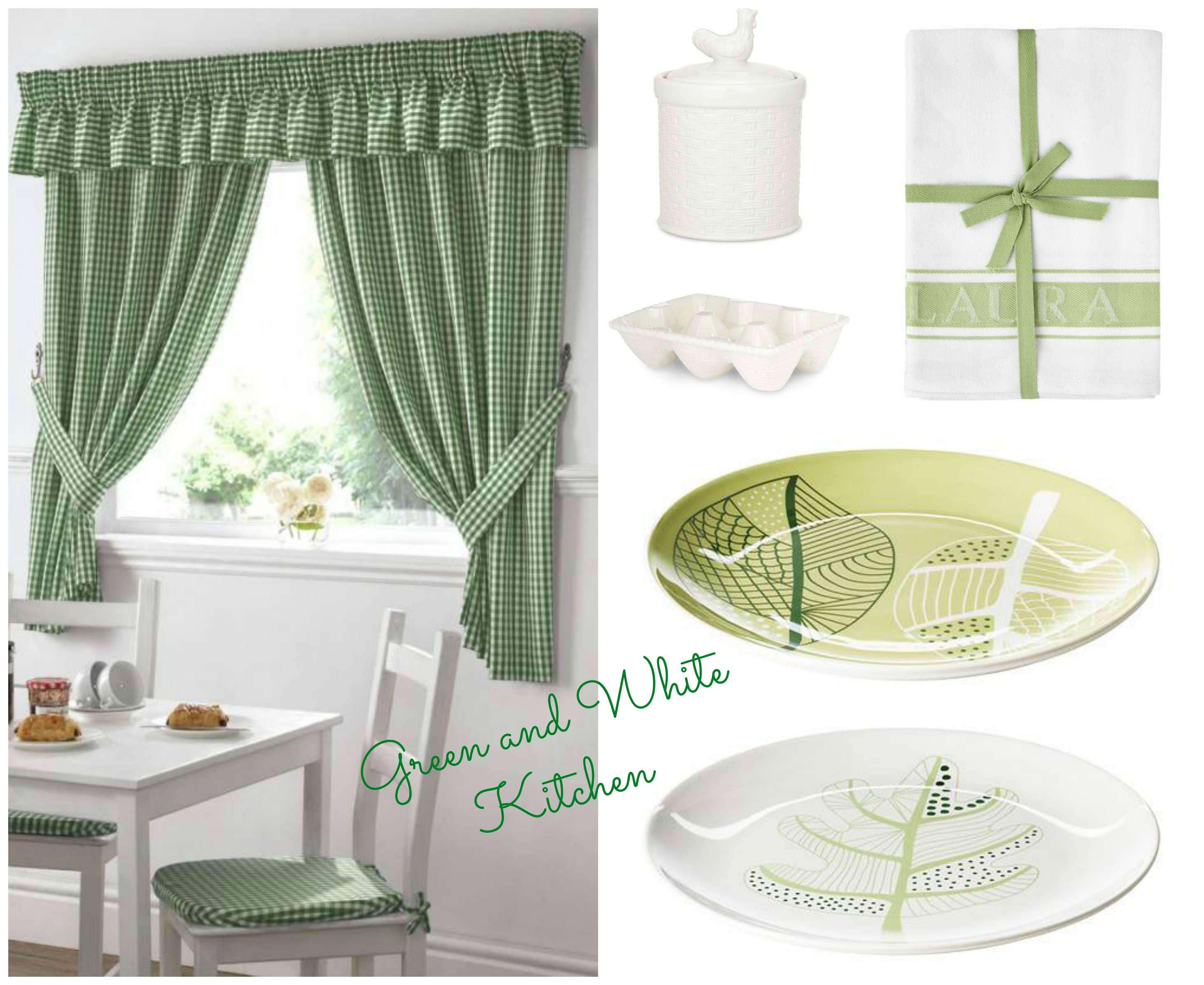 Green and White Kitchen Wishlist