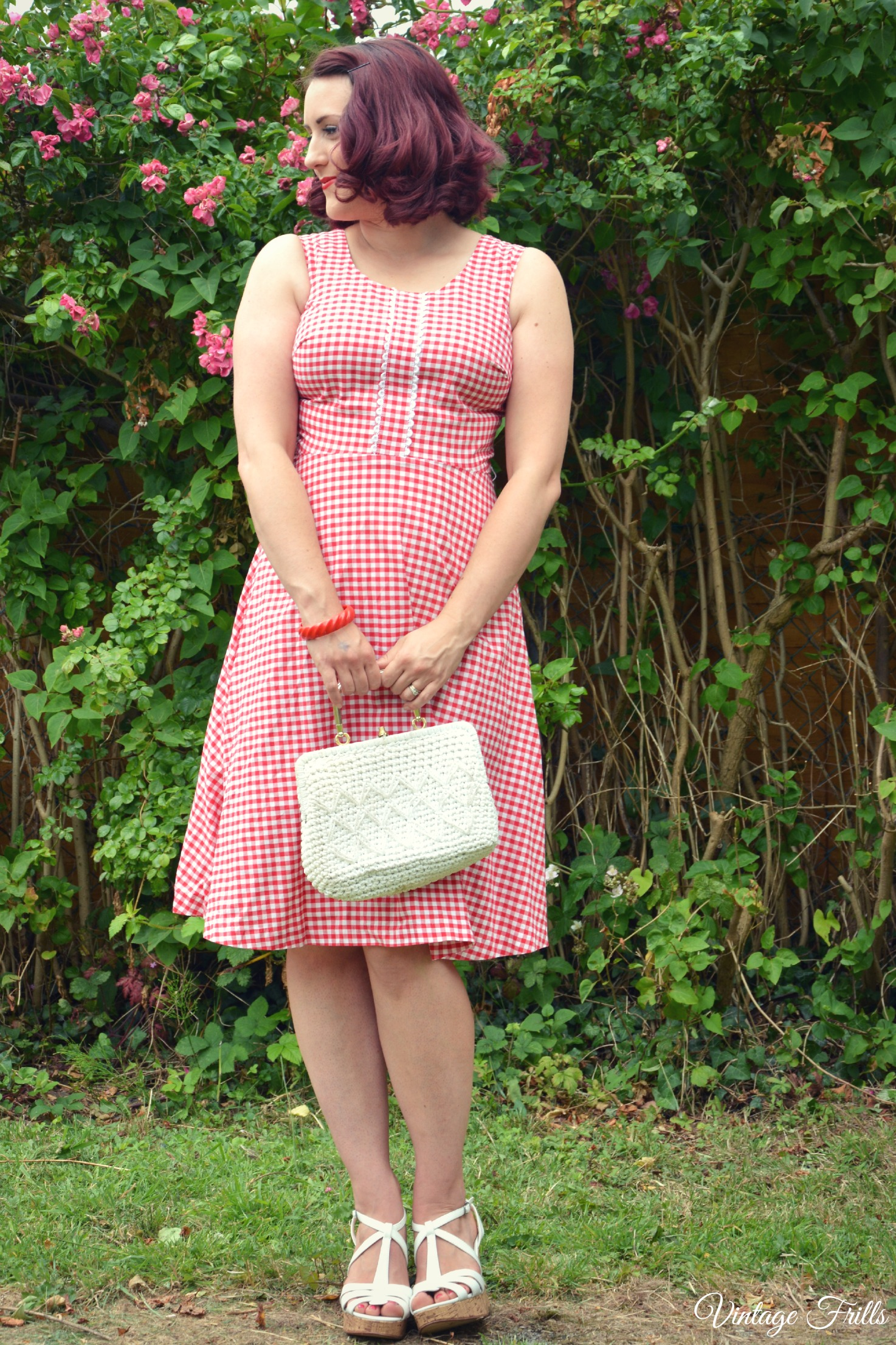 Red Gingham Horrockses Dress