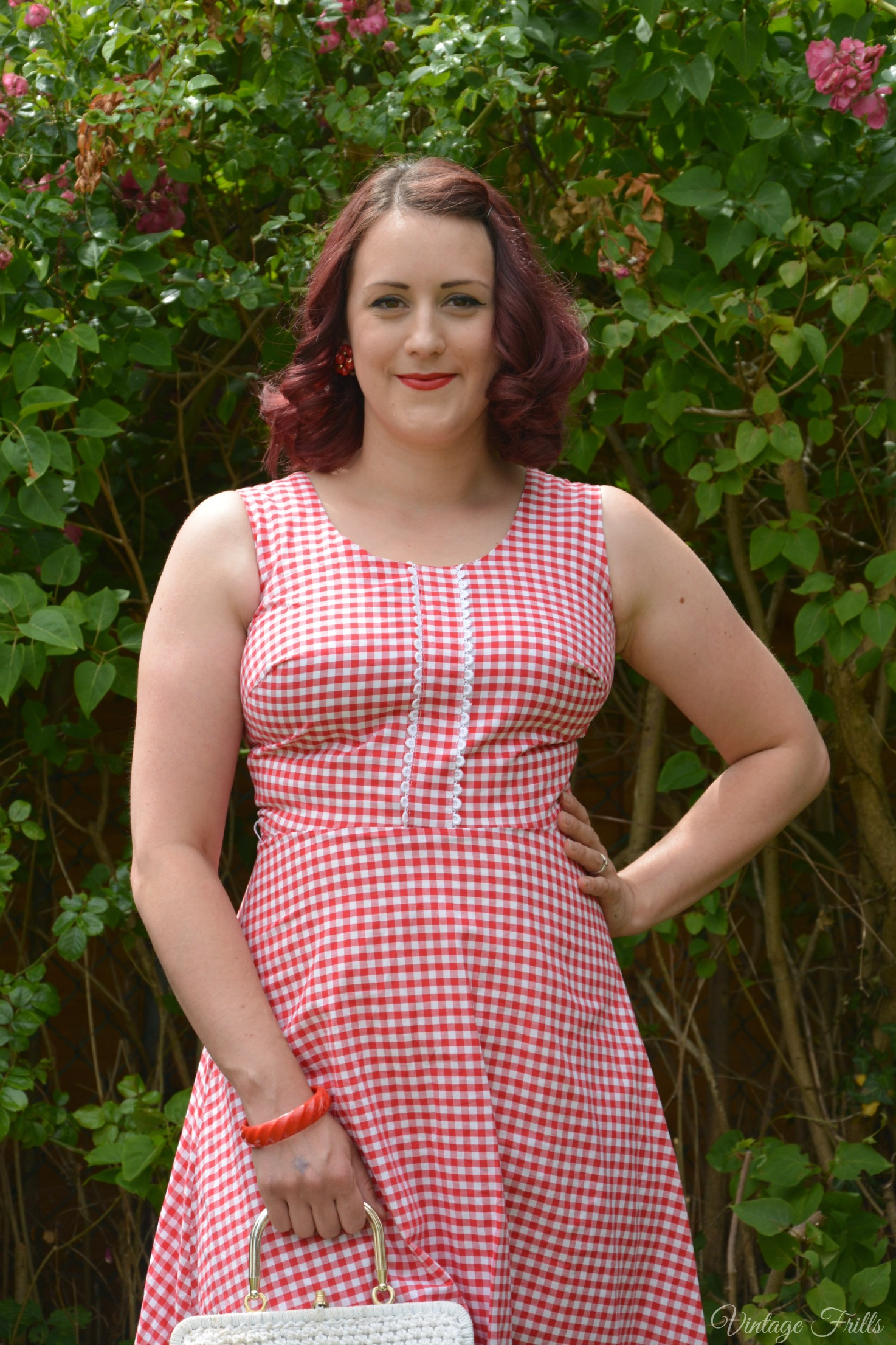 Red Horrockses Gingham Dress