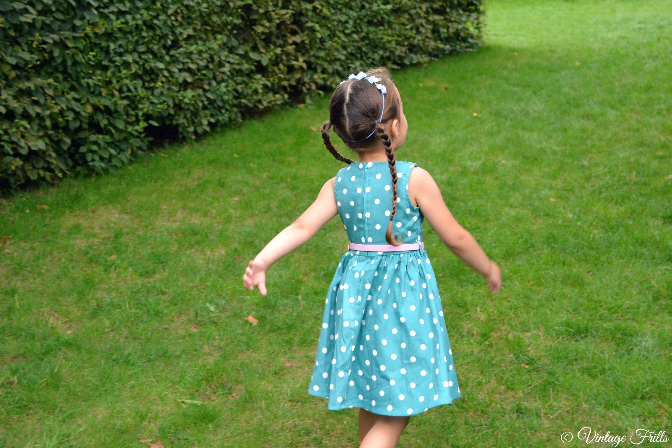Lindy Bop Kids Audrey Dress Vintage Frills