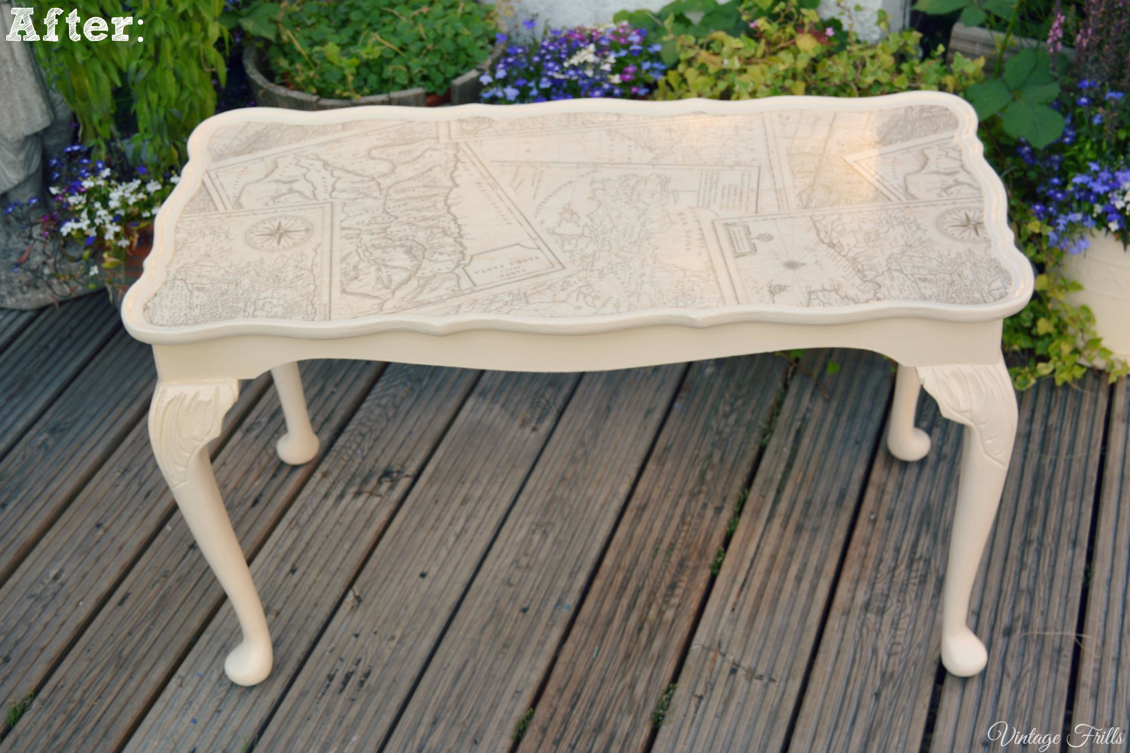 Saving a Badly Up cycled Coffee Table Vintage Frills