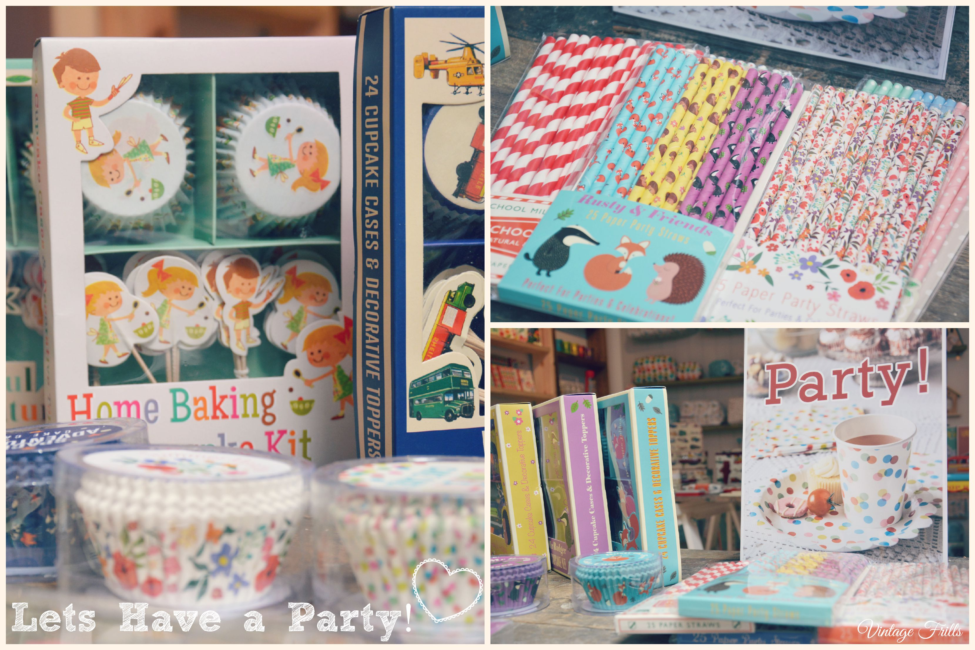 Party, Paper Straws and Cake Cases Dot Com Gift Shop  Vintage Frills