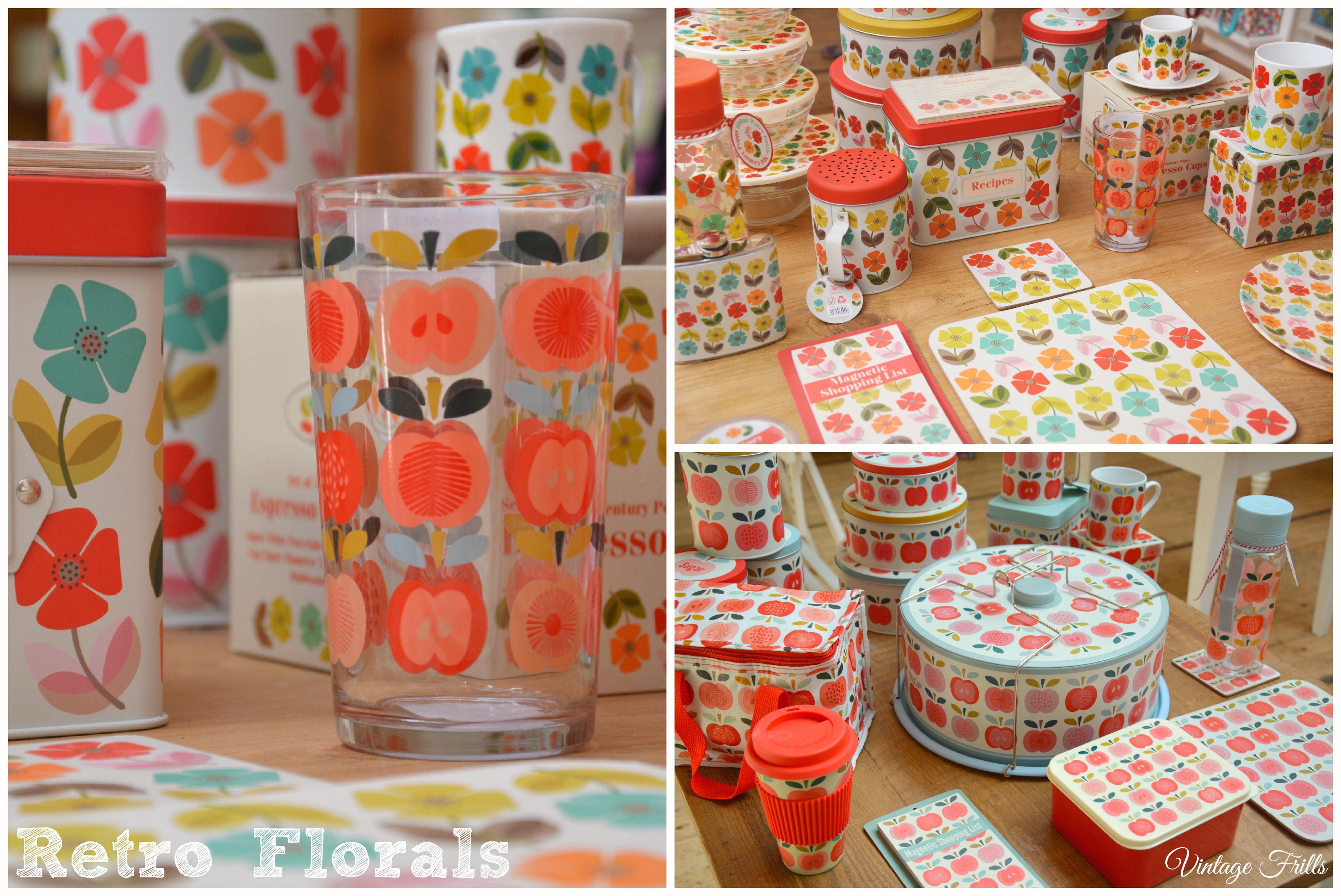 Retro Floral Tableware Dot Com Gift Shop  Vintage Frills