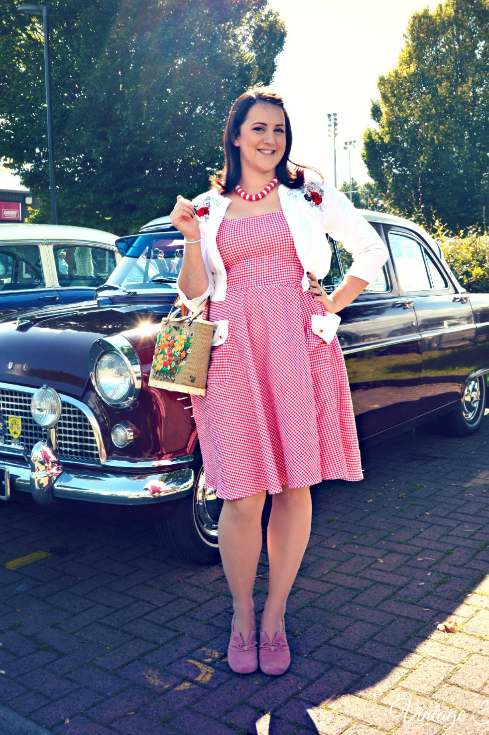 Collectif Aida Zac Lucia Red Gingham Dress