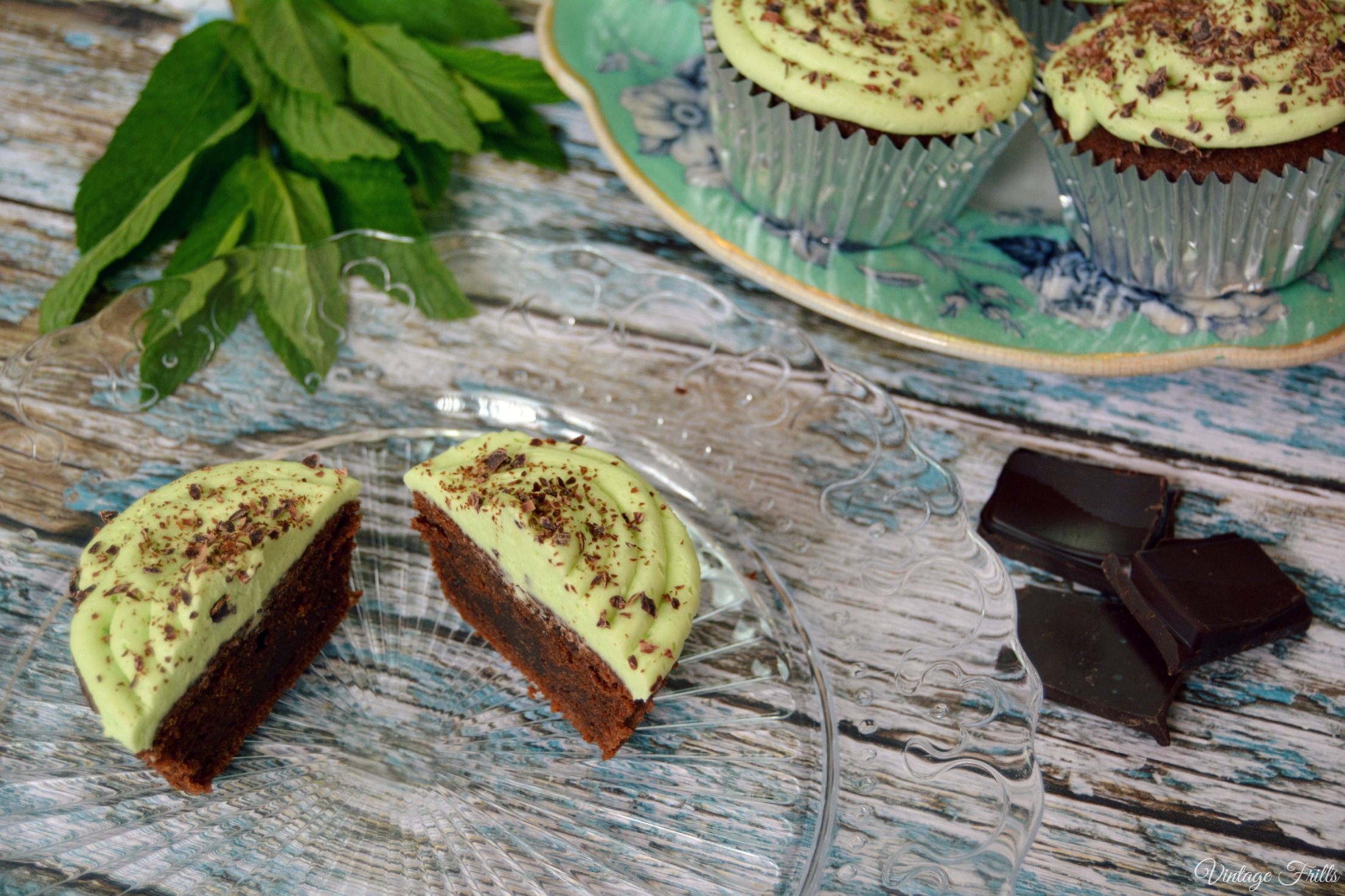 Mint Chocolate Flavoured Cupcake Recipe