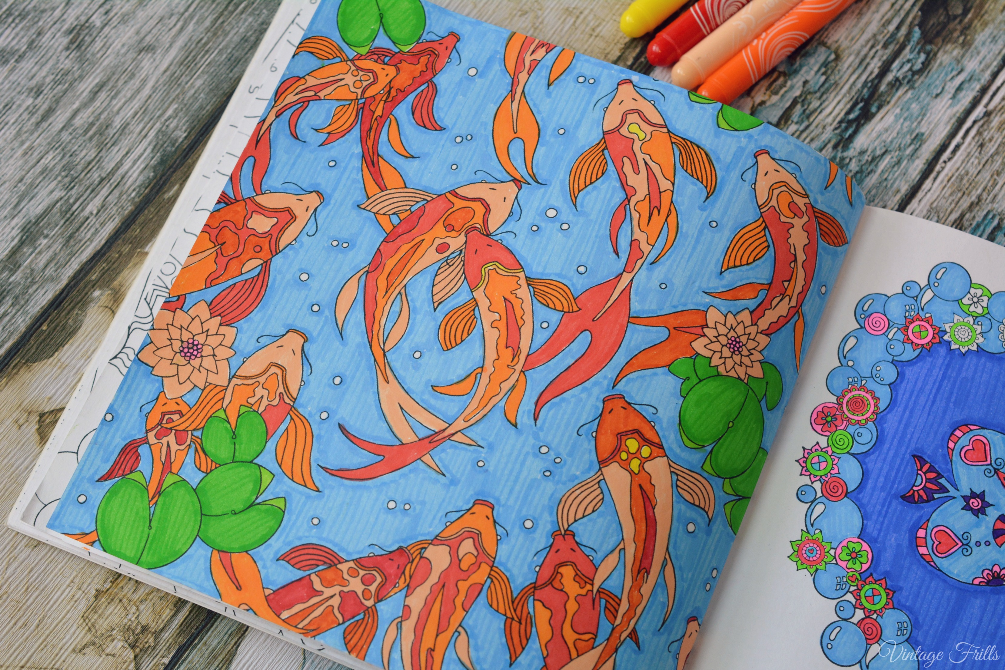 Colour Me Mindful Underwater Koi Carp