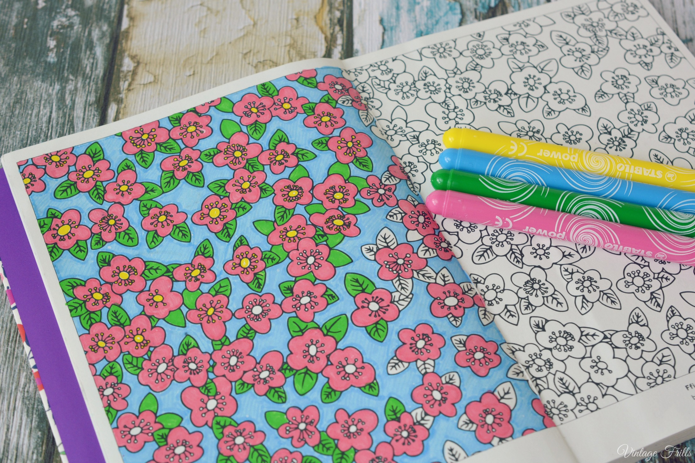 Liberty Colouring Book Floral