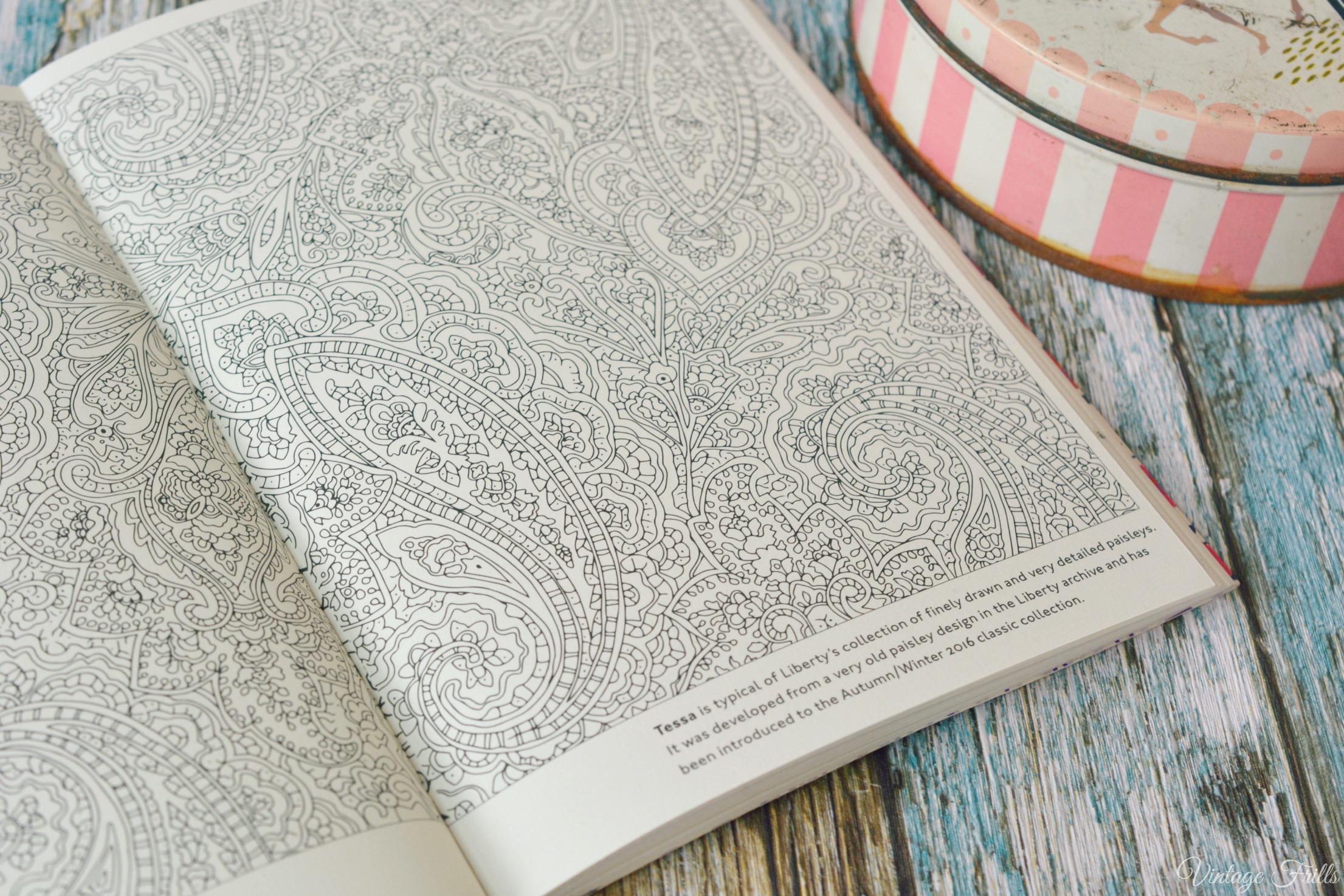 Liberty Colouring Book Tessa Print