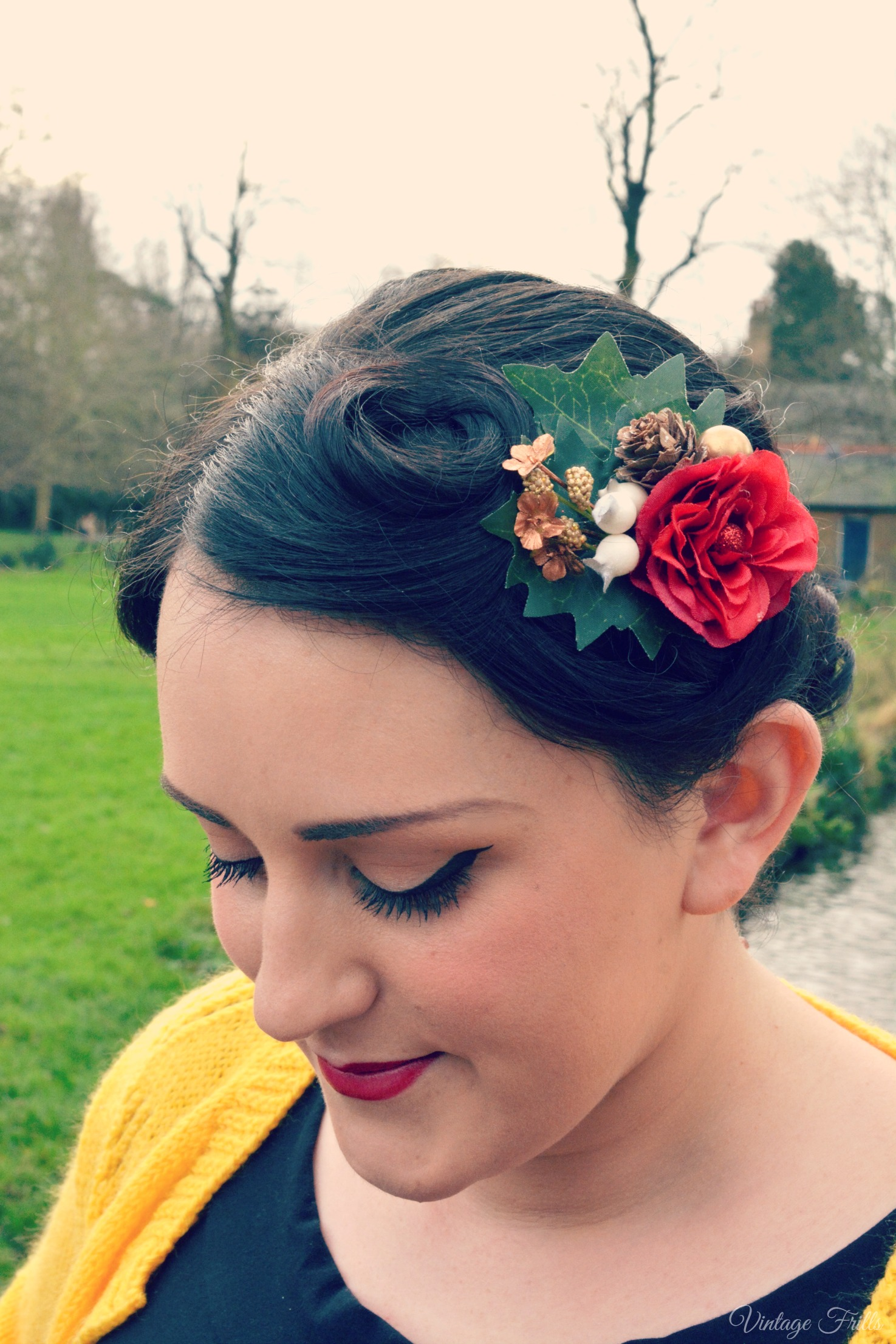 Vintage Frills Rosie Alia Designs Christmas Hair Flower
