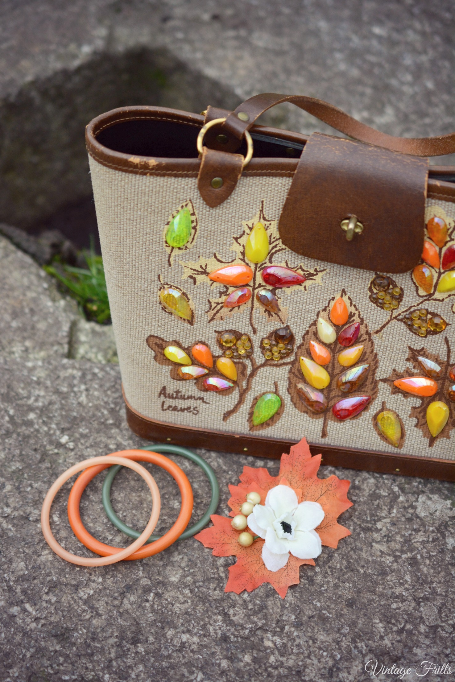 Autumn Leaves Enid Collins Handbag