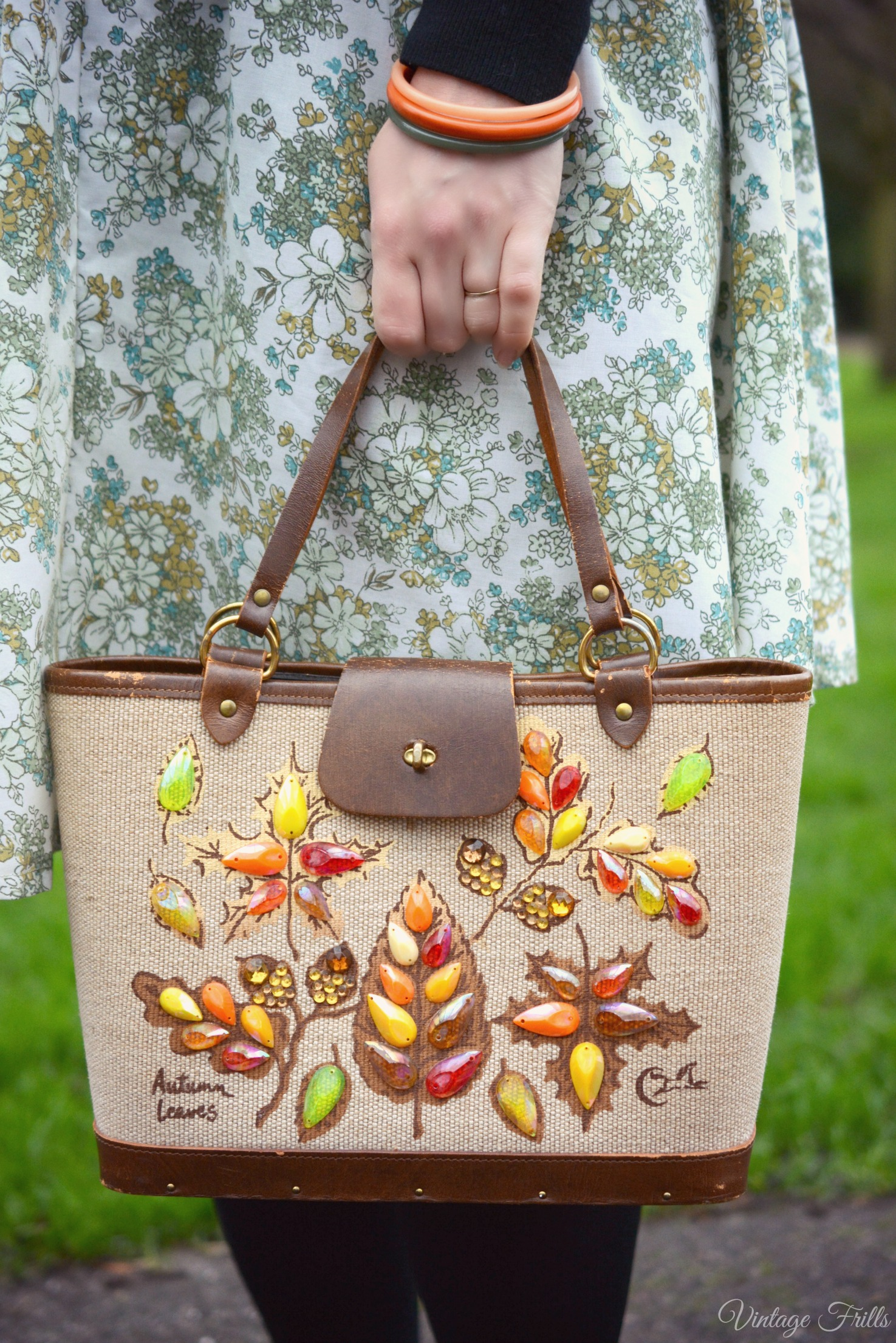 Enid Collins Autumn Leaves Bag