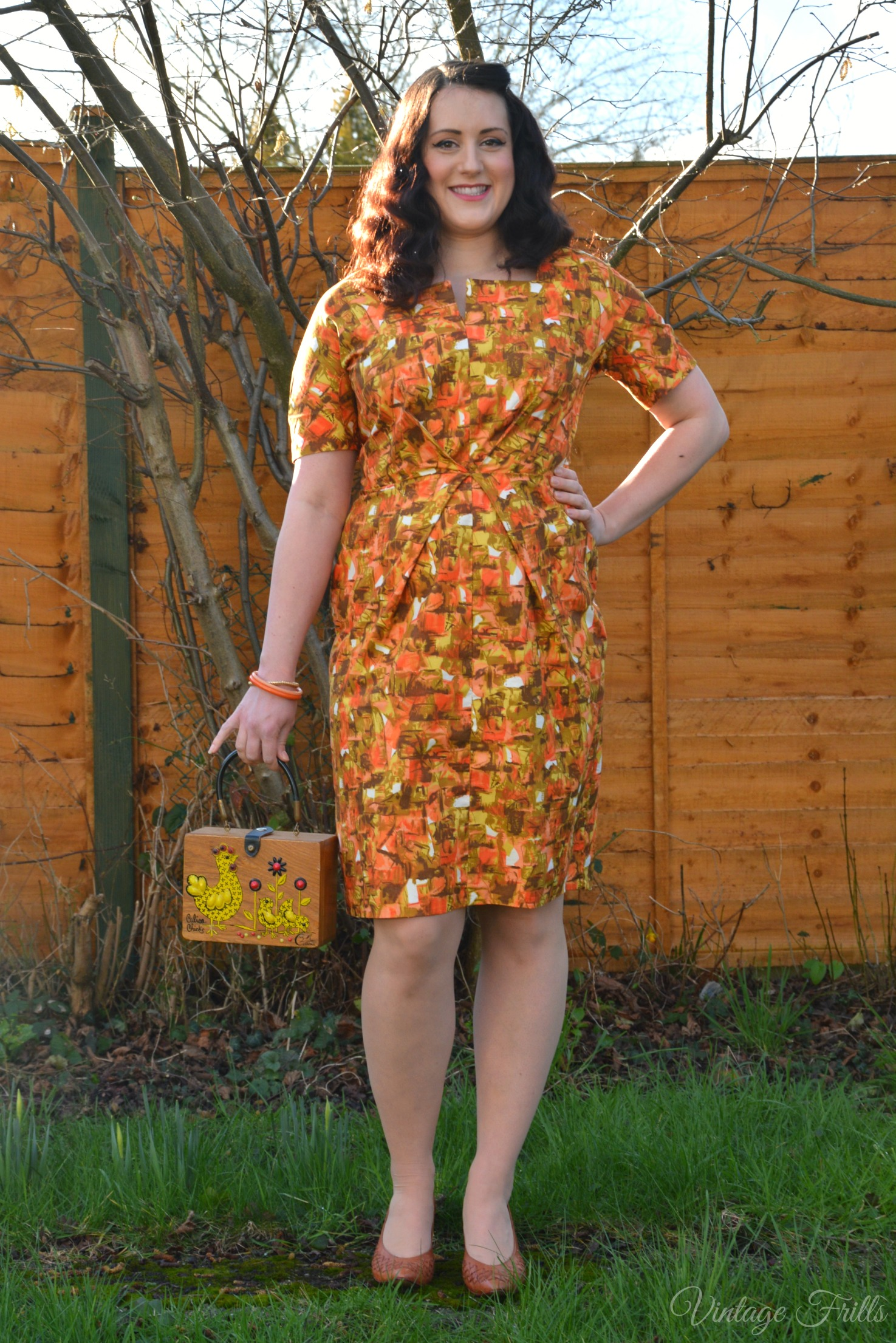 My Vintage Favourites No 3 – The Orange Wiggle Dress