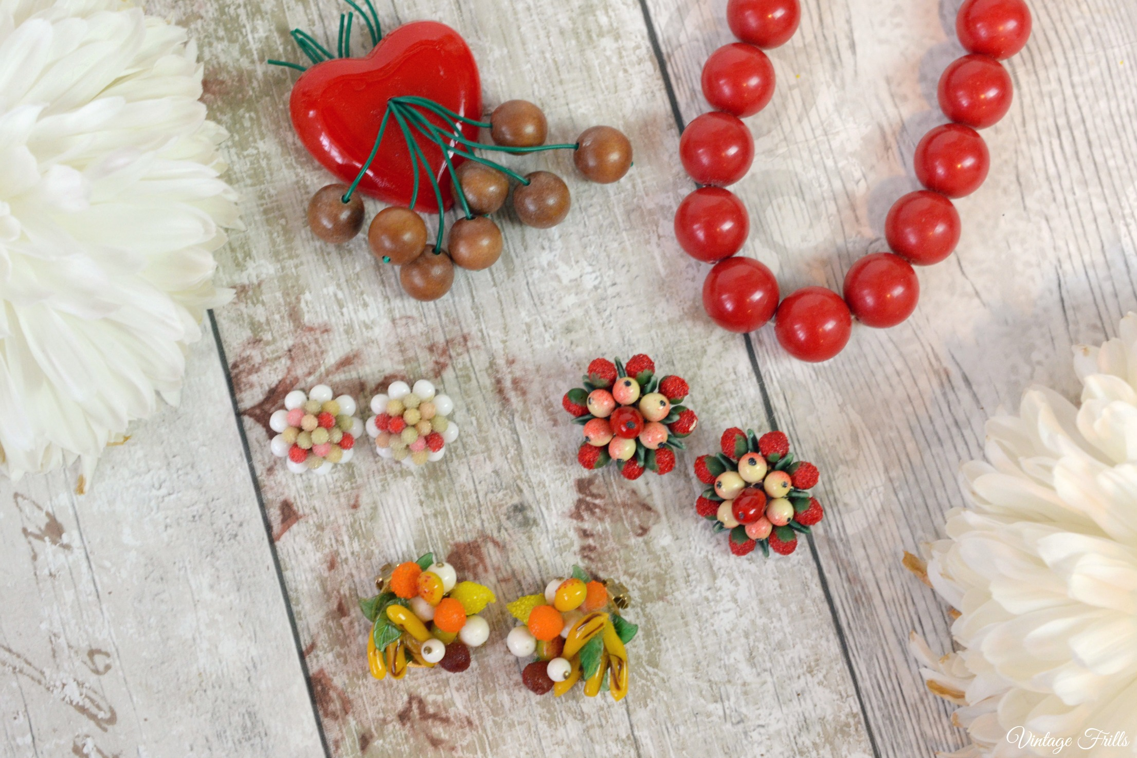 Vintage Red fruit Jewellery