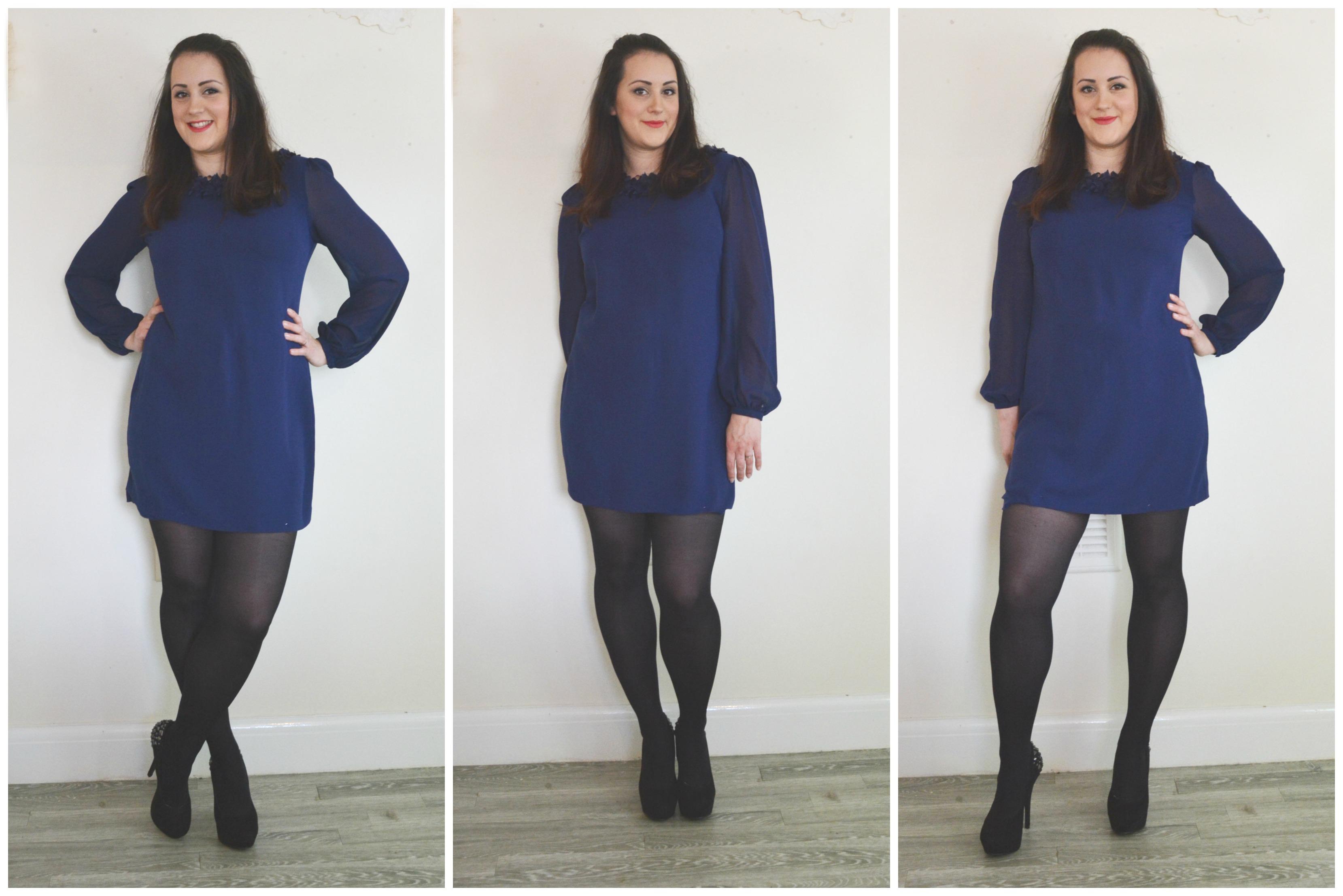 Charity Shop Blue mini dress