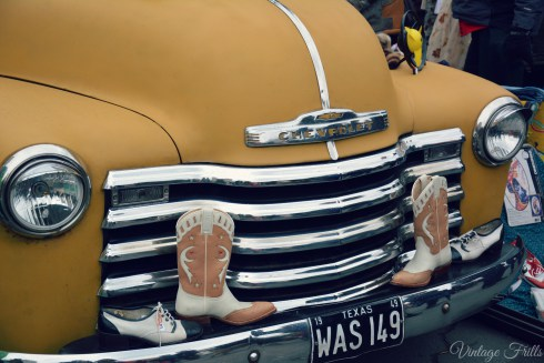 Classic-Car-Boot-Sale-Vintage-Mustard-Chevrolet