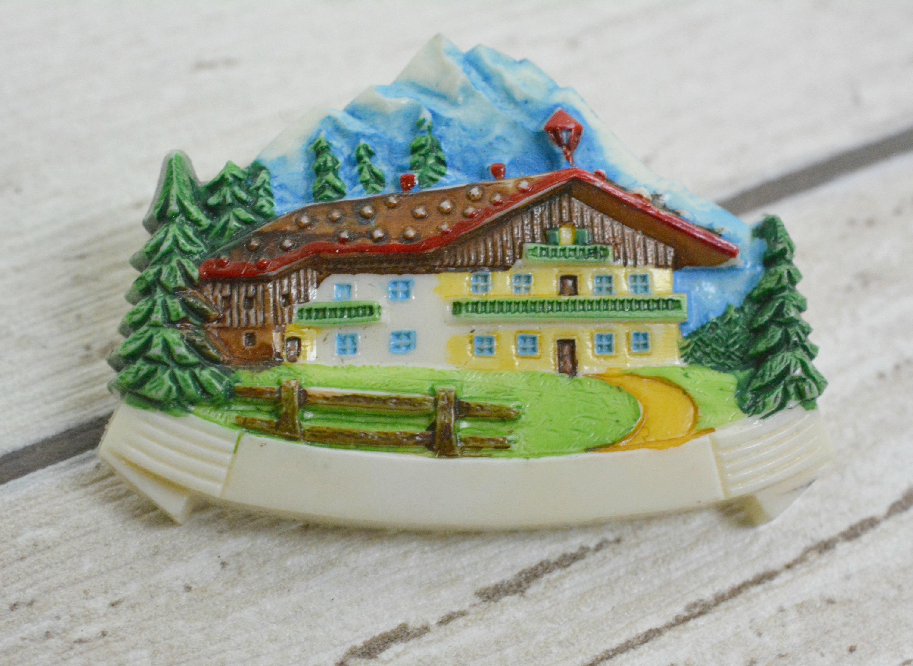 Plastic Alpine Brooch