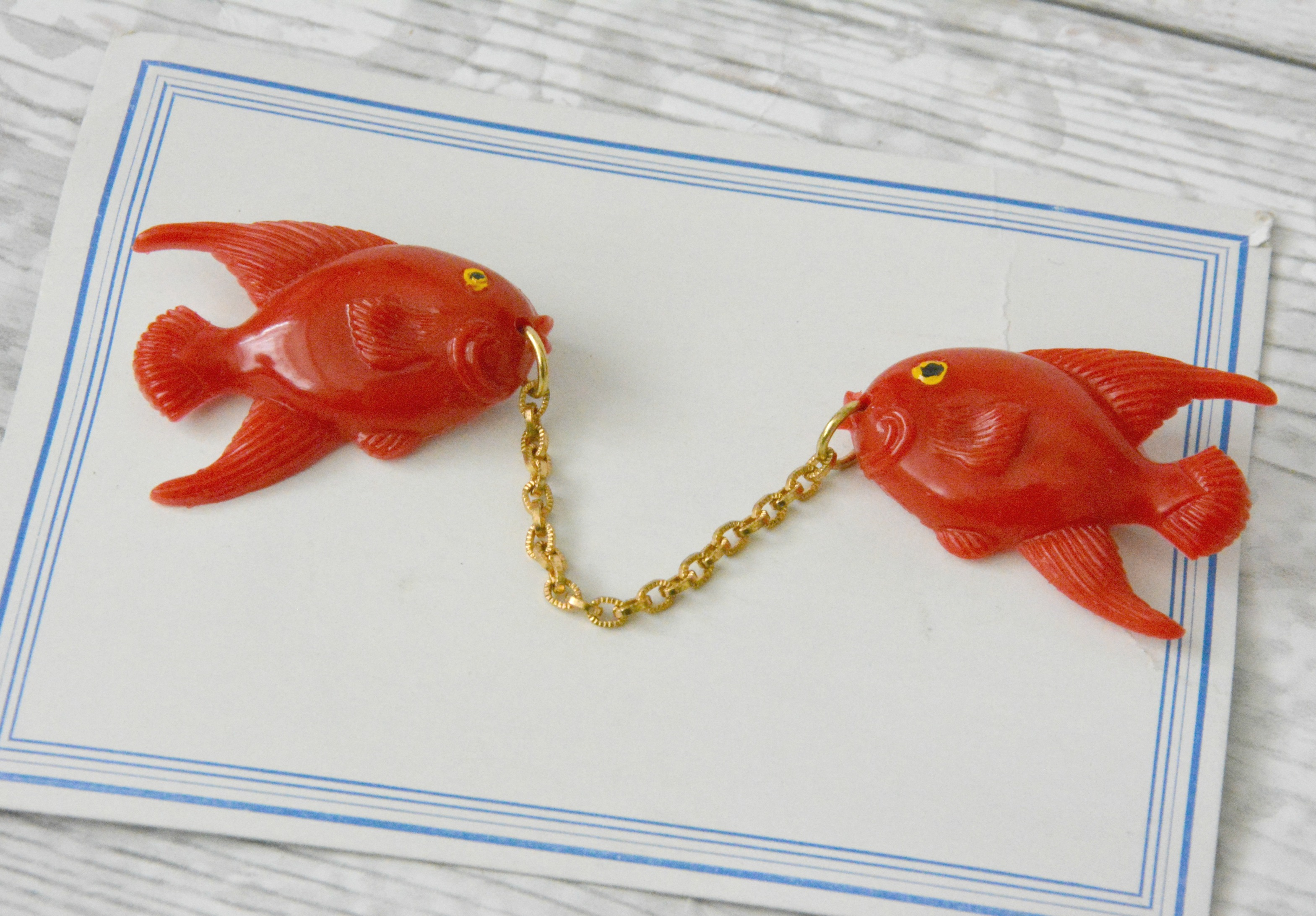 Fish Dress Clips on Card