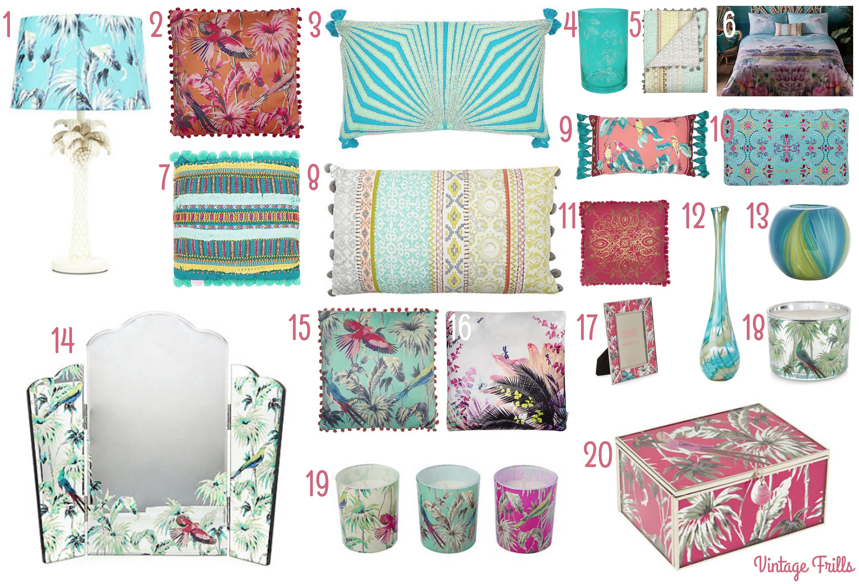 Debenhams Tropical Matthew Williamson Butterfly Home Wishlist