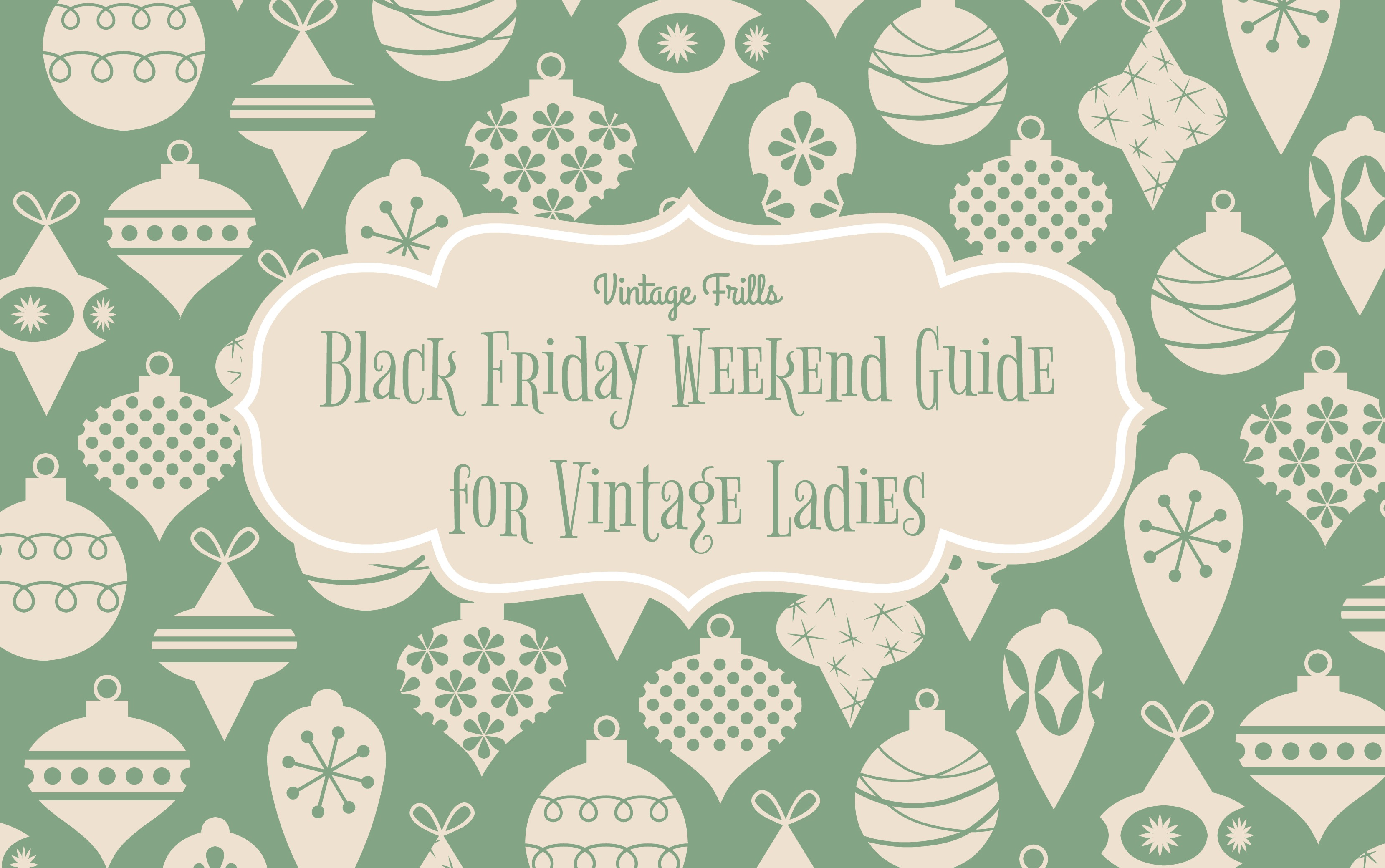 Black Friday Deals for Vintage Ladies