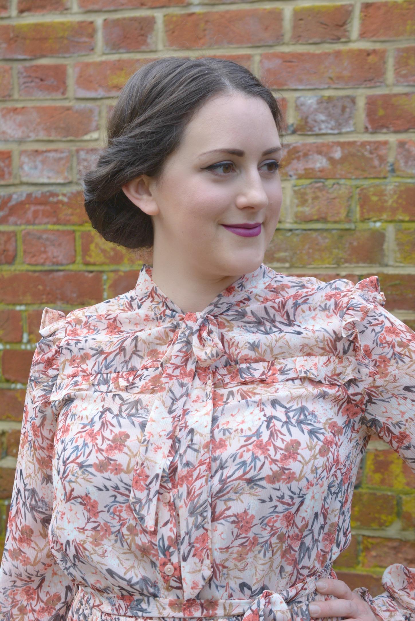 Laura Ashley Floral Ruffle Dress 6