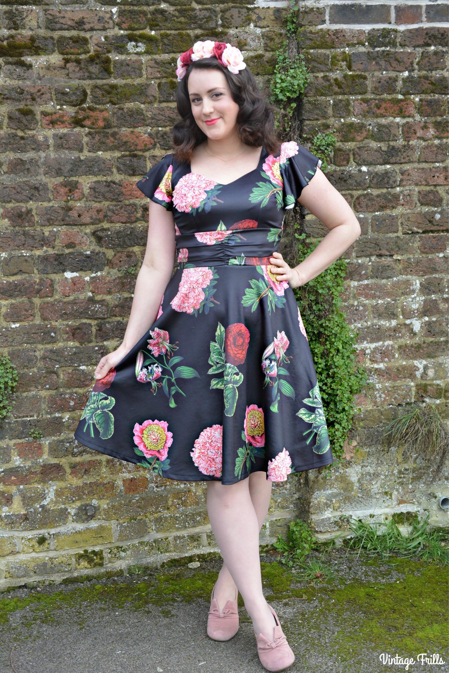 Voodoo Vixen Mabel Black Floral Dress Review