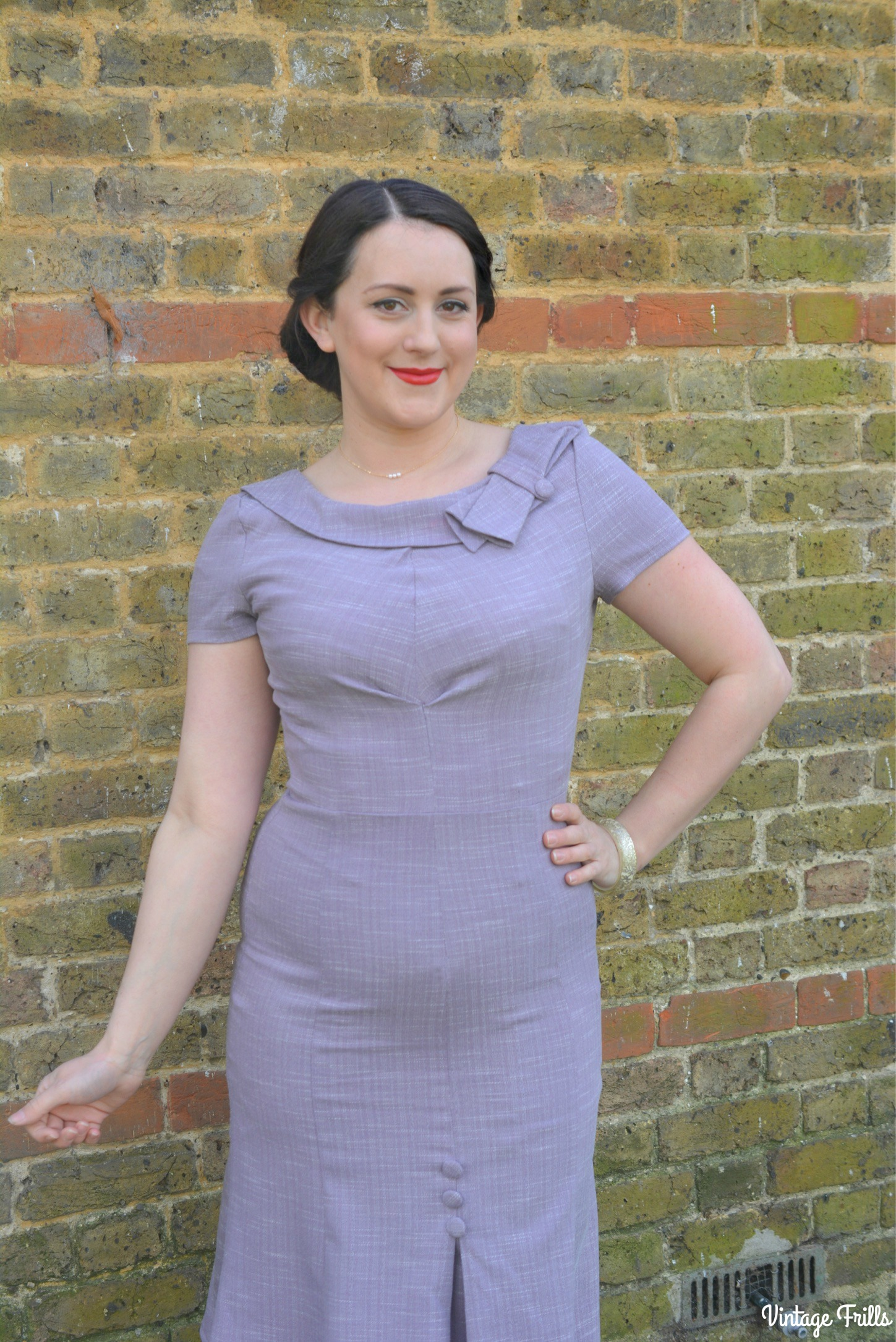 Voodoo Vixen Lilac Wiggle Dress