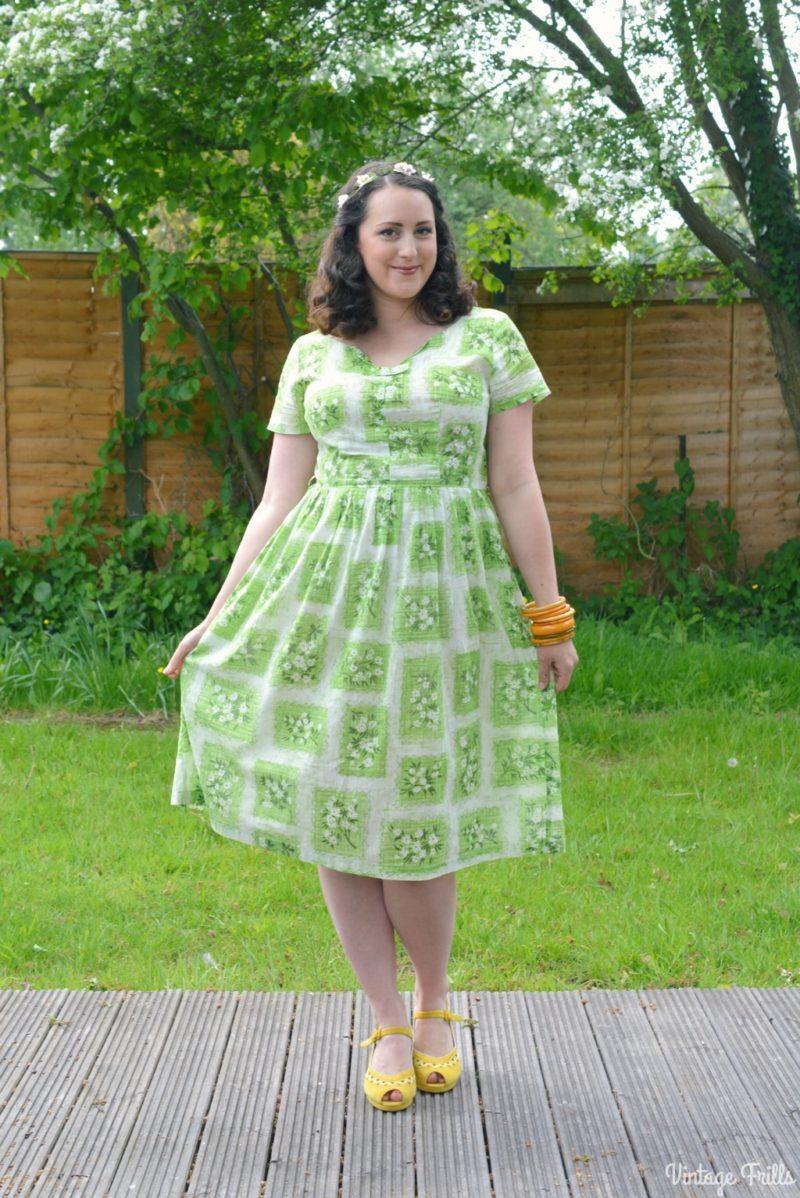 Vintage Favourites - Green 1950s Cotton Dress #OOTD