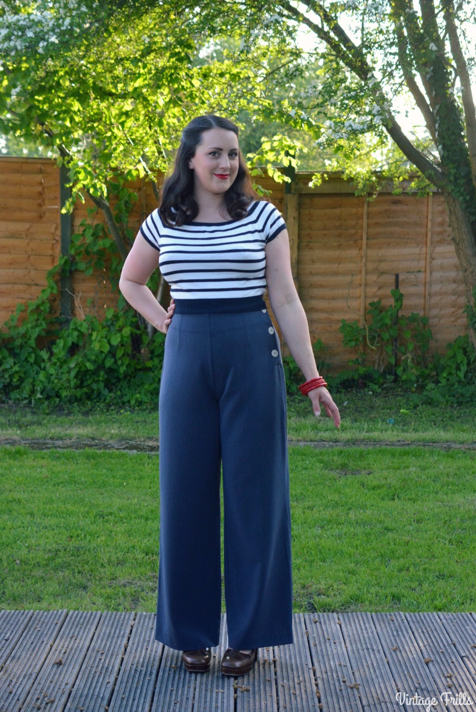 Pretty Retro 40s Style Swing Pants Review #OOTD