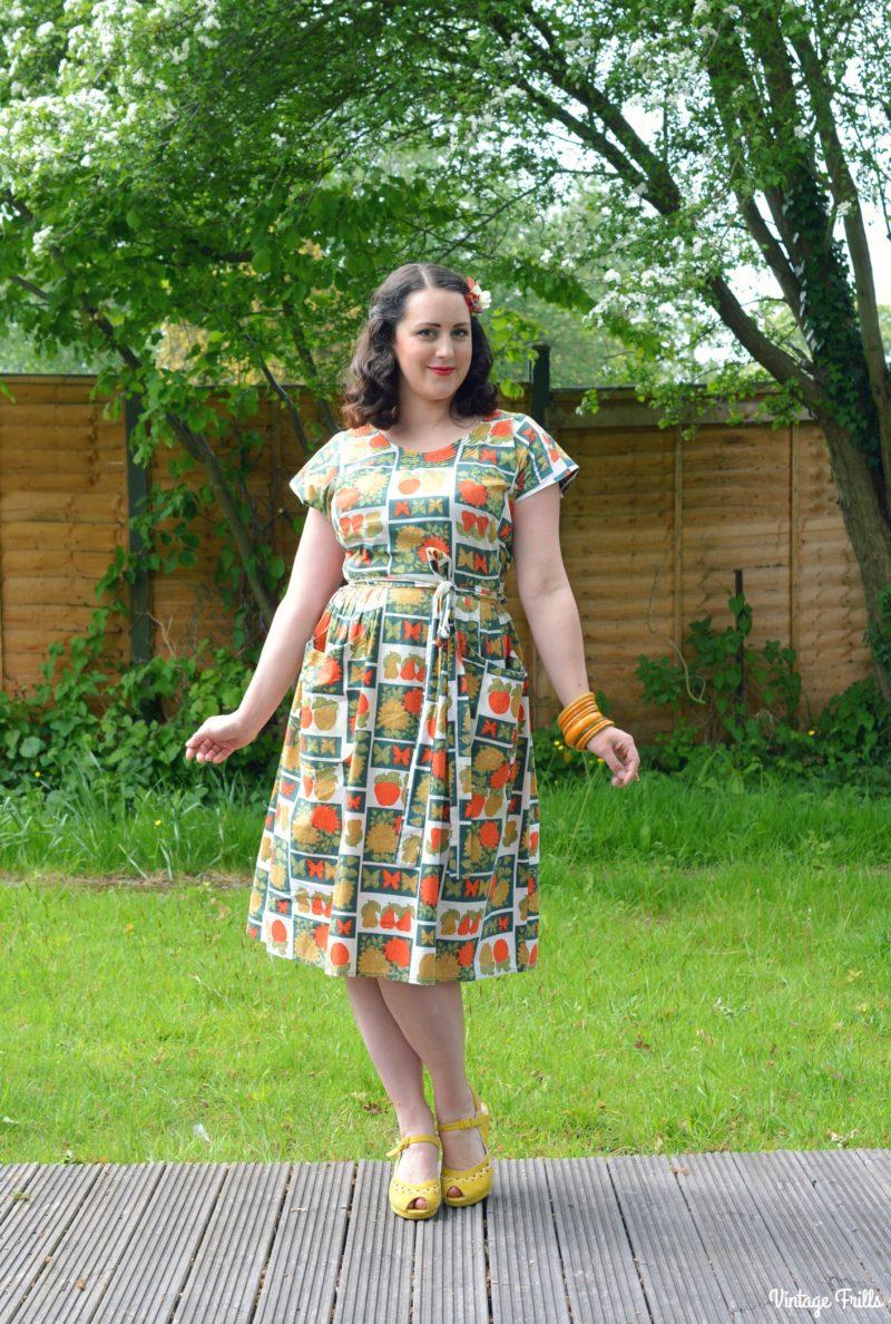 Vintage Favourites - Fruit Print Swirl Dress