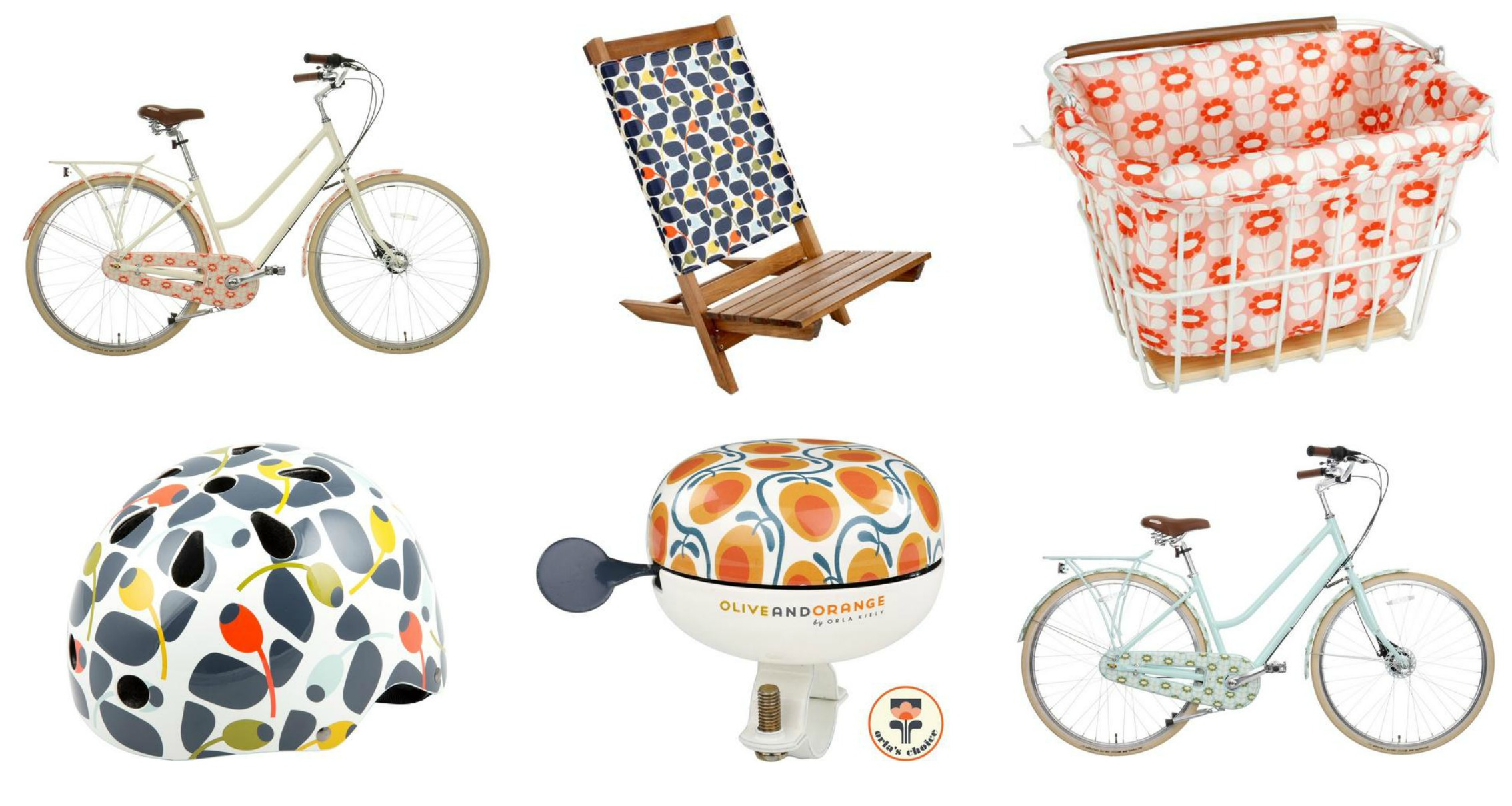 Olive and Orange range by Orla Kiely for Halfords