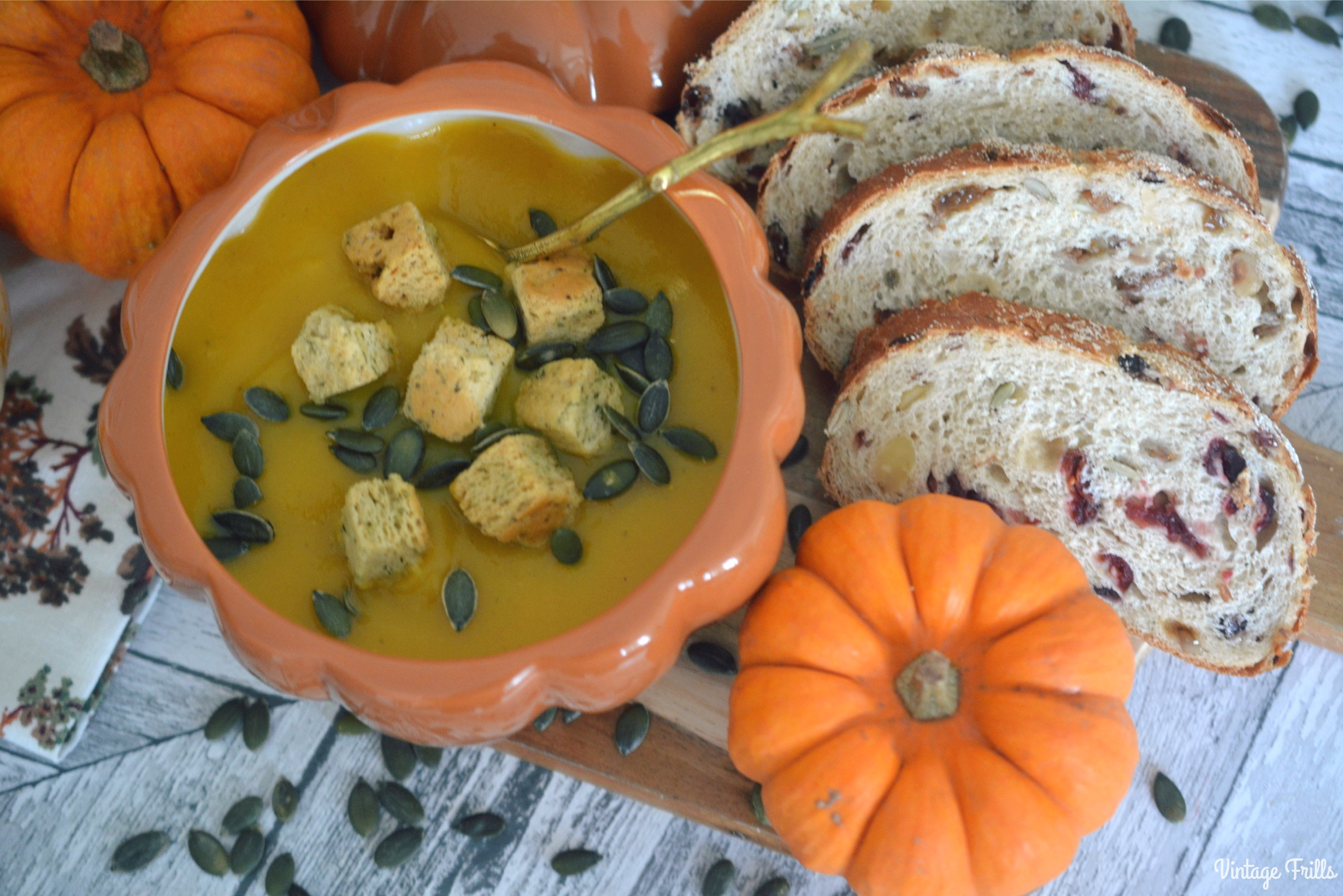 Pumpkin Autumn Soup Bowl Recipe