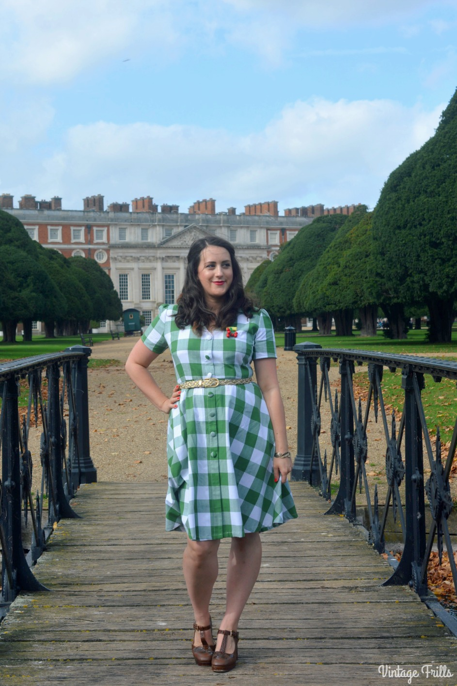 A Gorgeous Vintage Style Green Gingham Dress – #OOTD