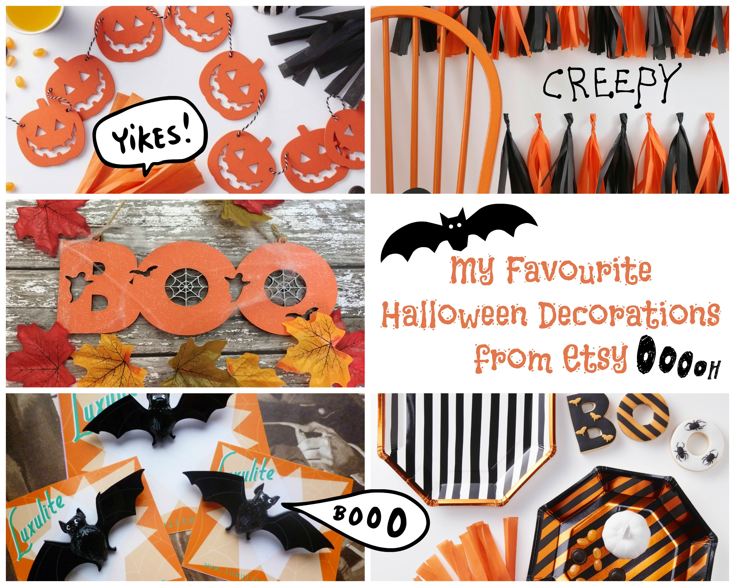 13 Cute And Quirky Etsy Halloween Decorations Vintage Frills