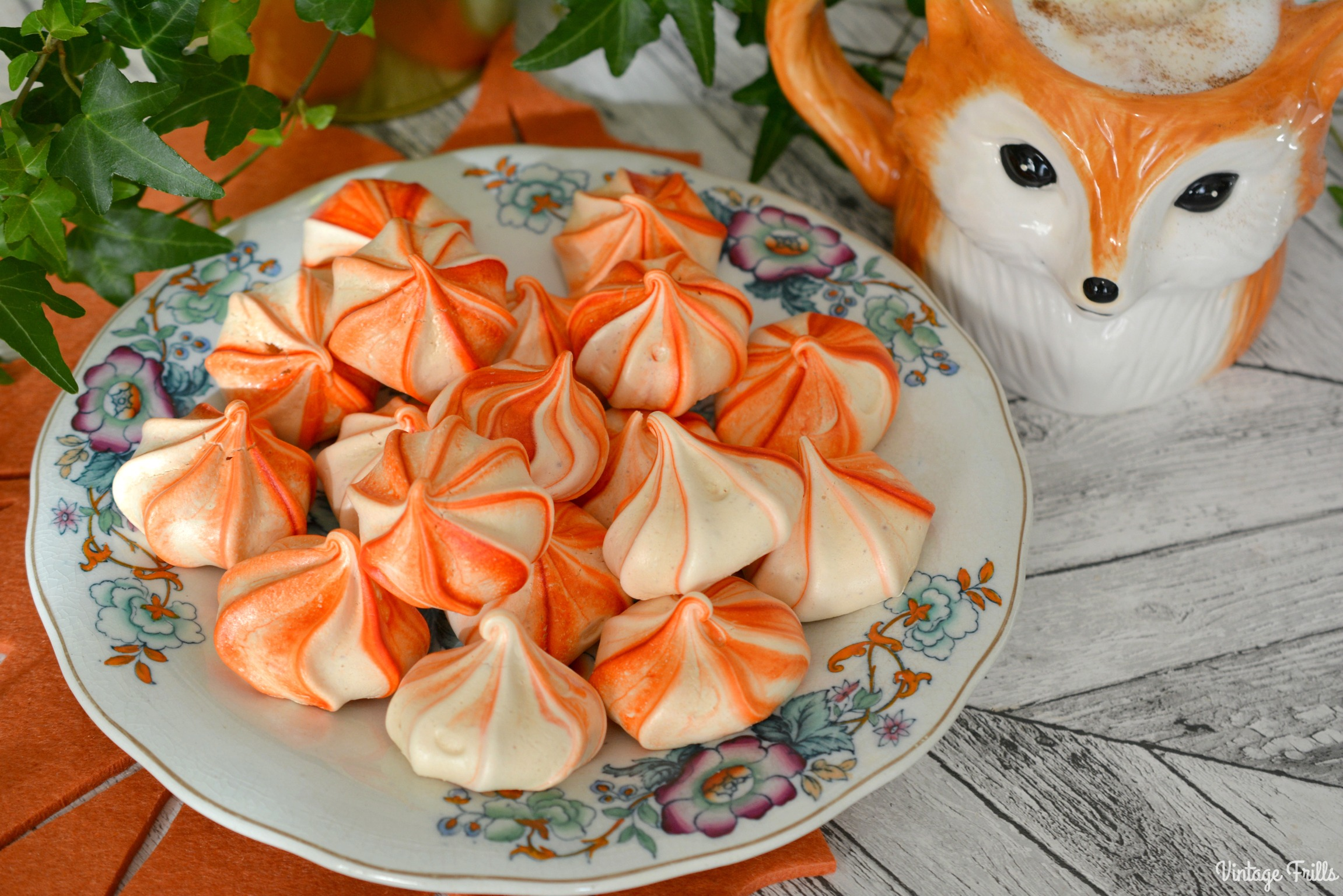 Autumnal Orange Meringue Kisses